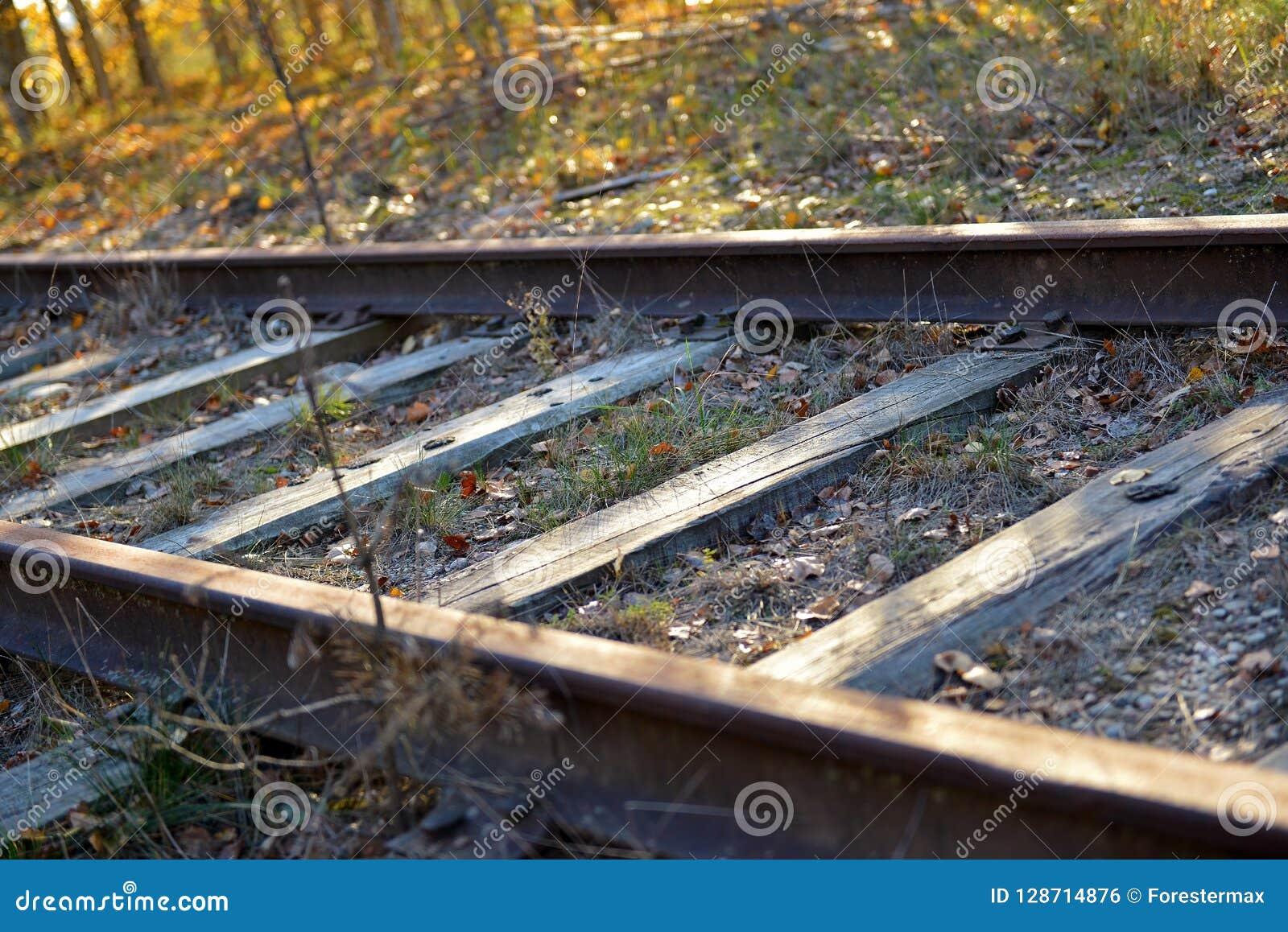 被放弃的铁路轨道