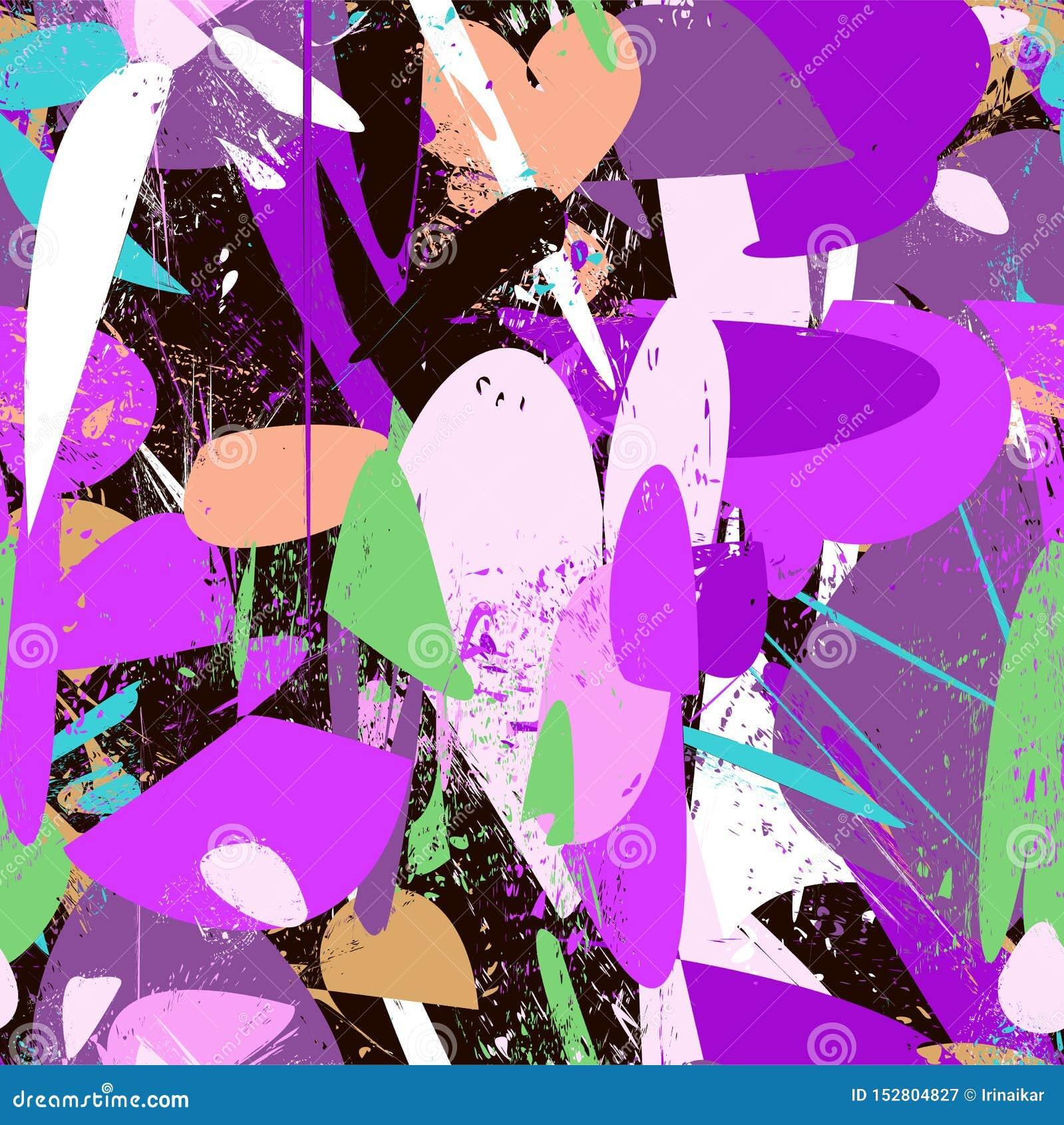 被构造的条纹,冲程,飞溅和在紫色颜色范围的斑点