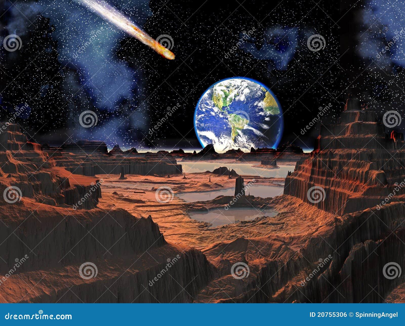 被查看的小行星冲突地球月亮