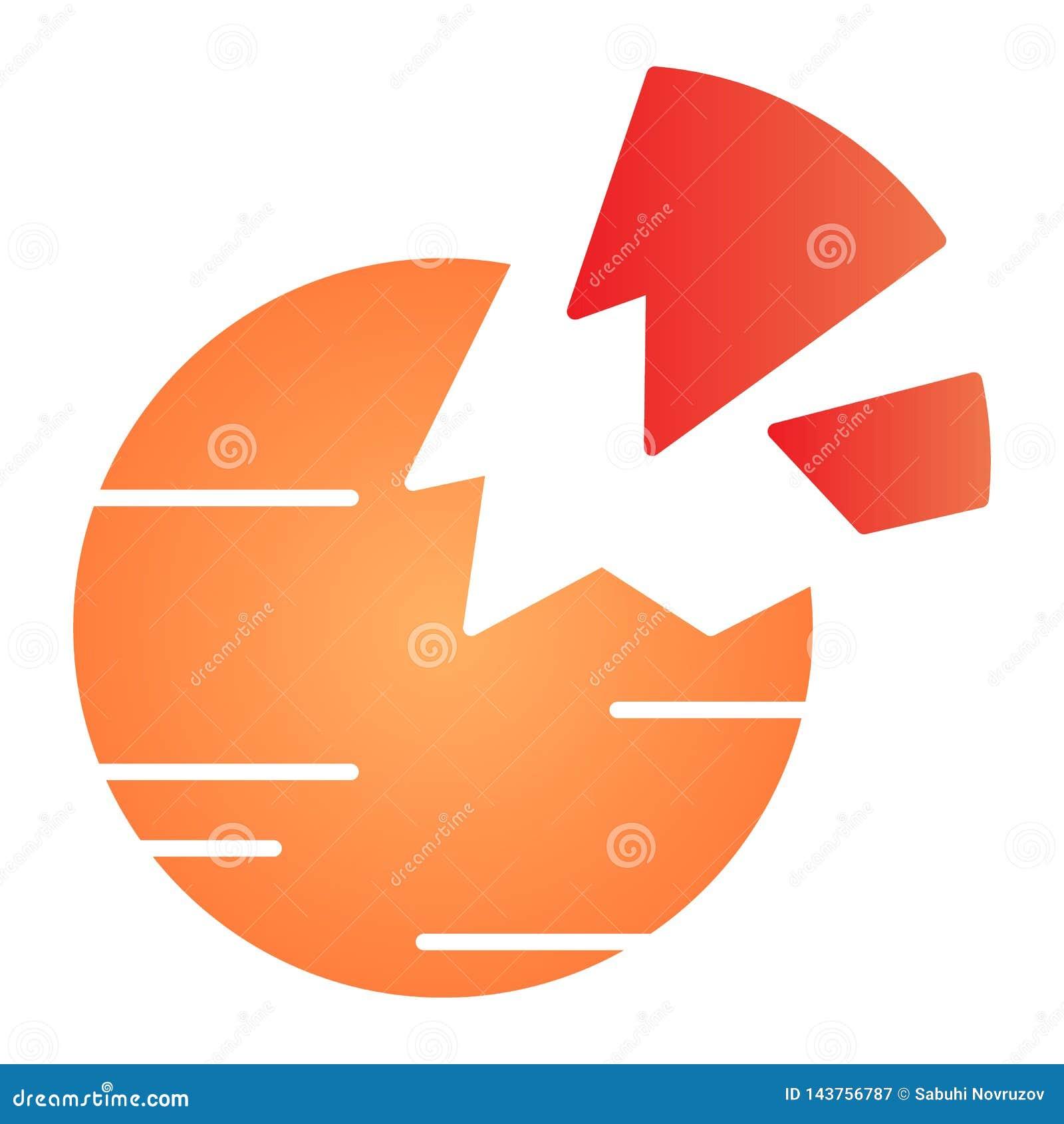 被毁坏的行星平的象 在时髦平的样式的残破的行星颜色象 空间梯度样式设计,设计为