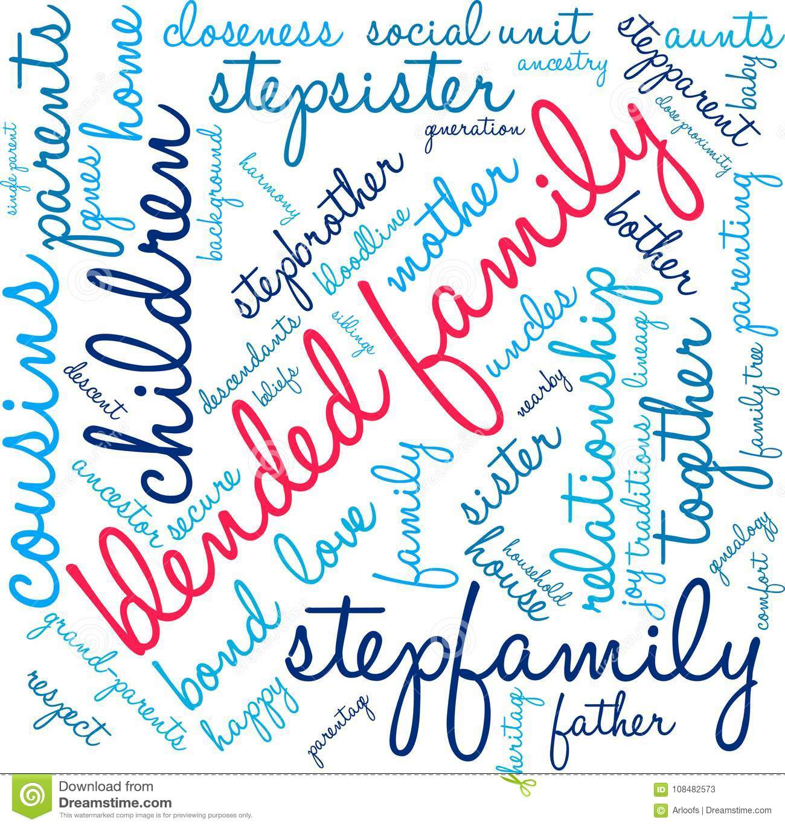 被混和的家庭词云彩