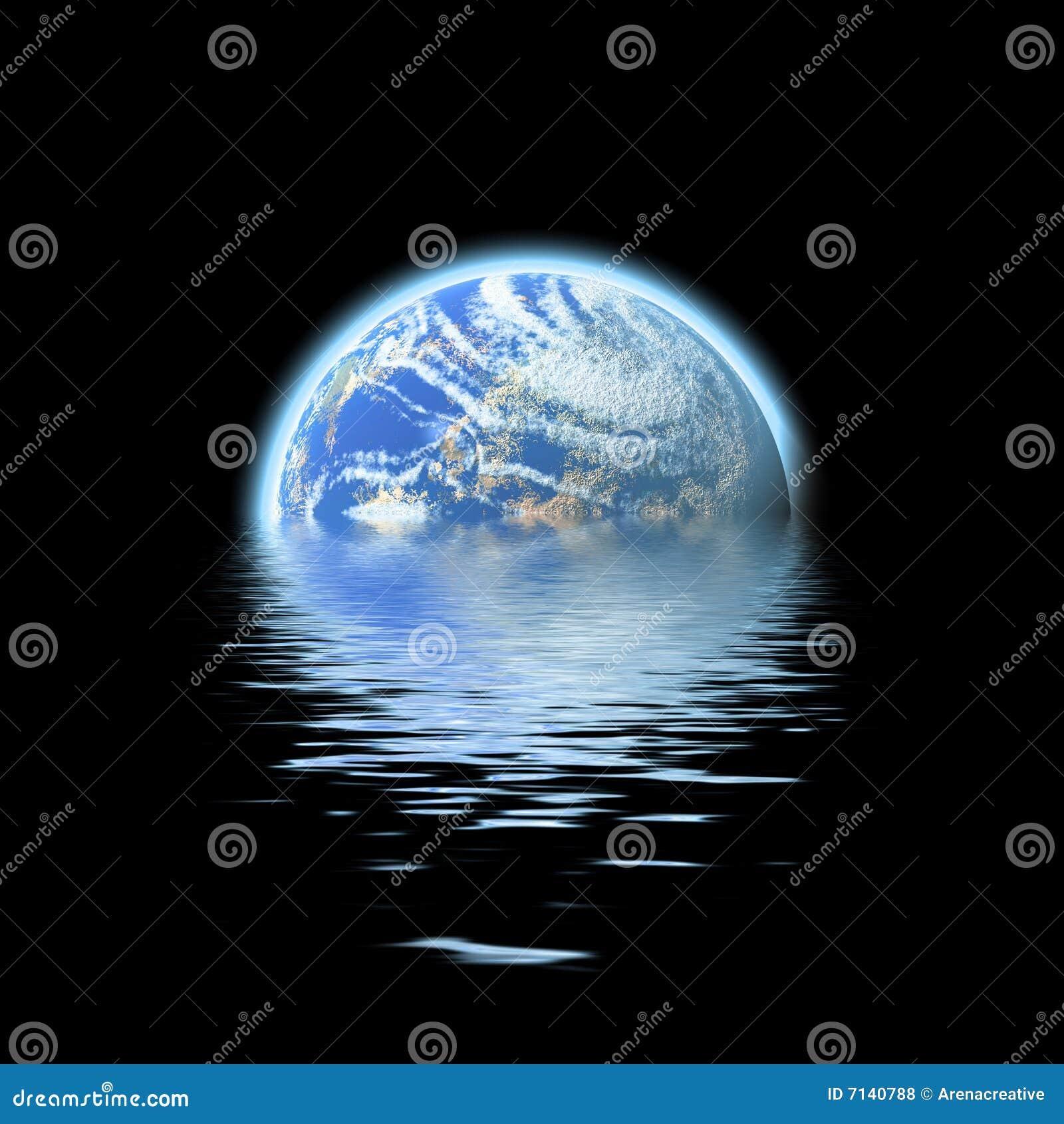 被淹没的地球