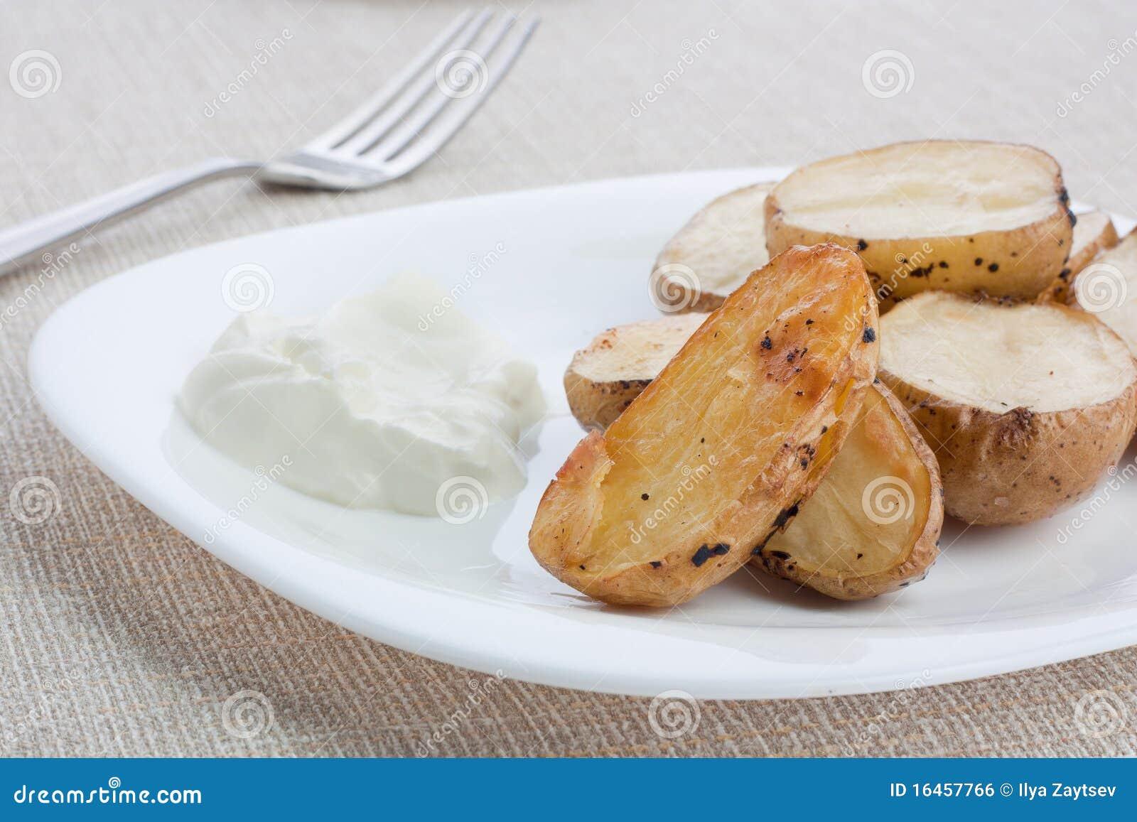 被烘烤的土豆