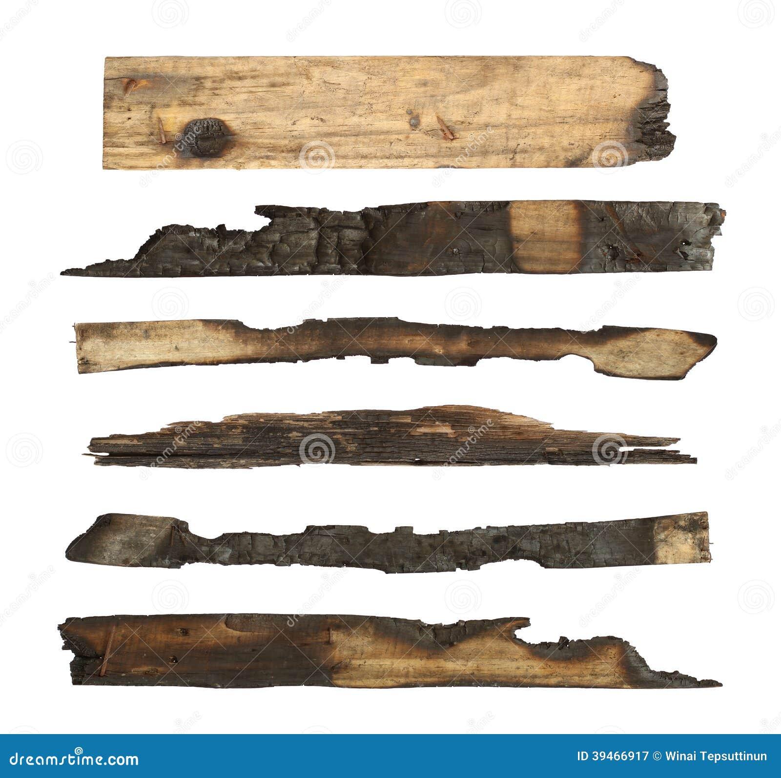 被烧焦的木板条