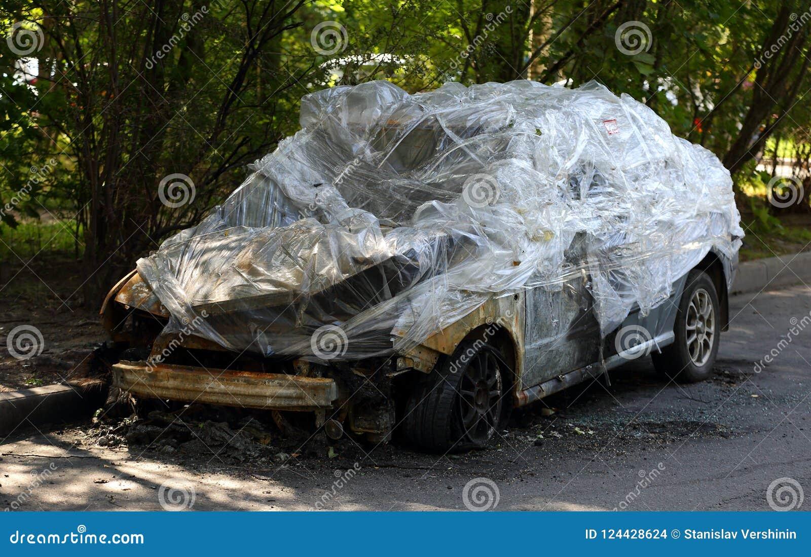 被烧的汽车
