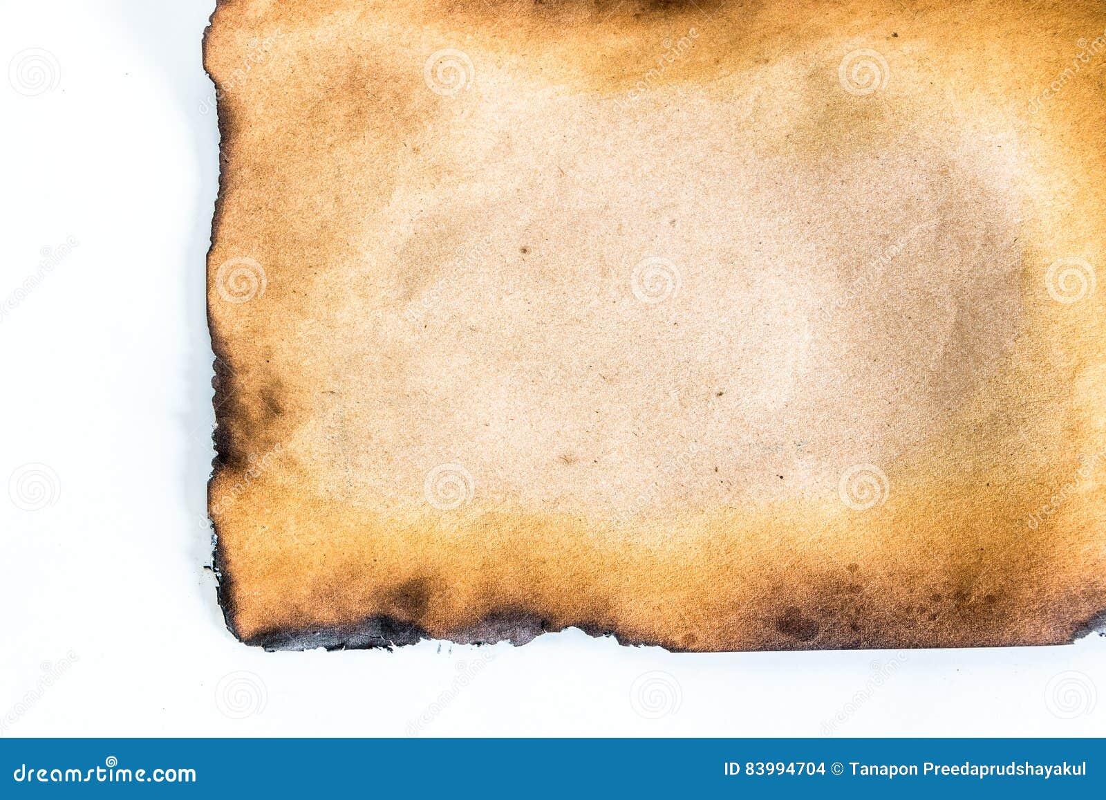 被烧的纸张