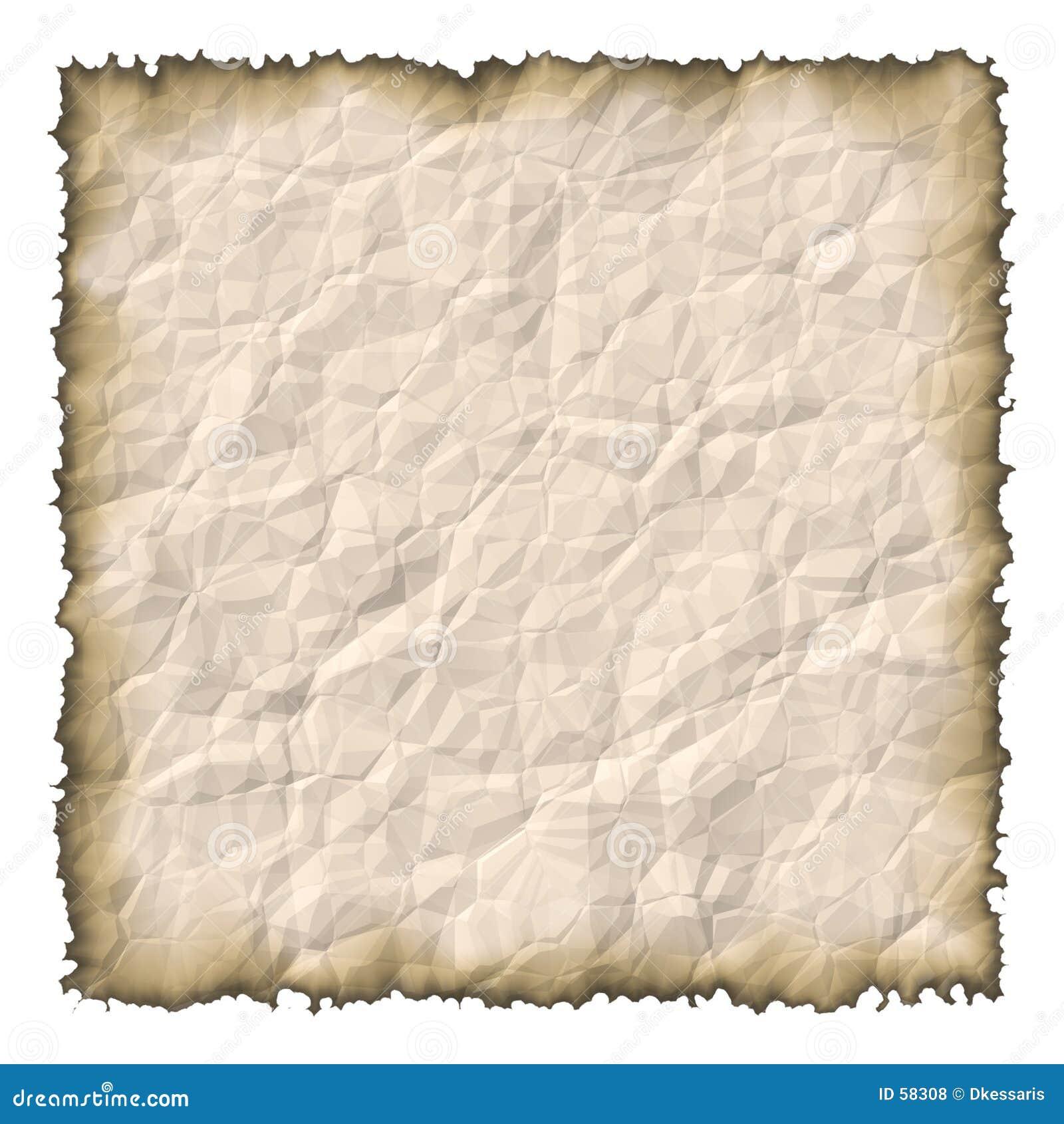 被烧的老纸张
