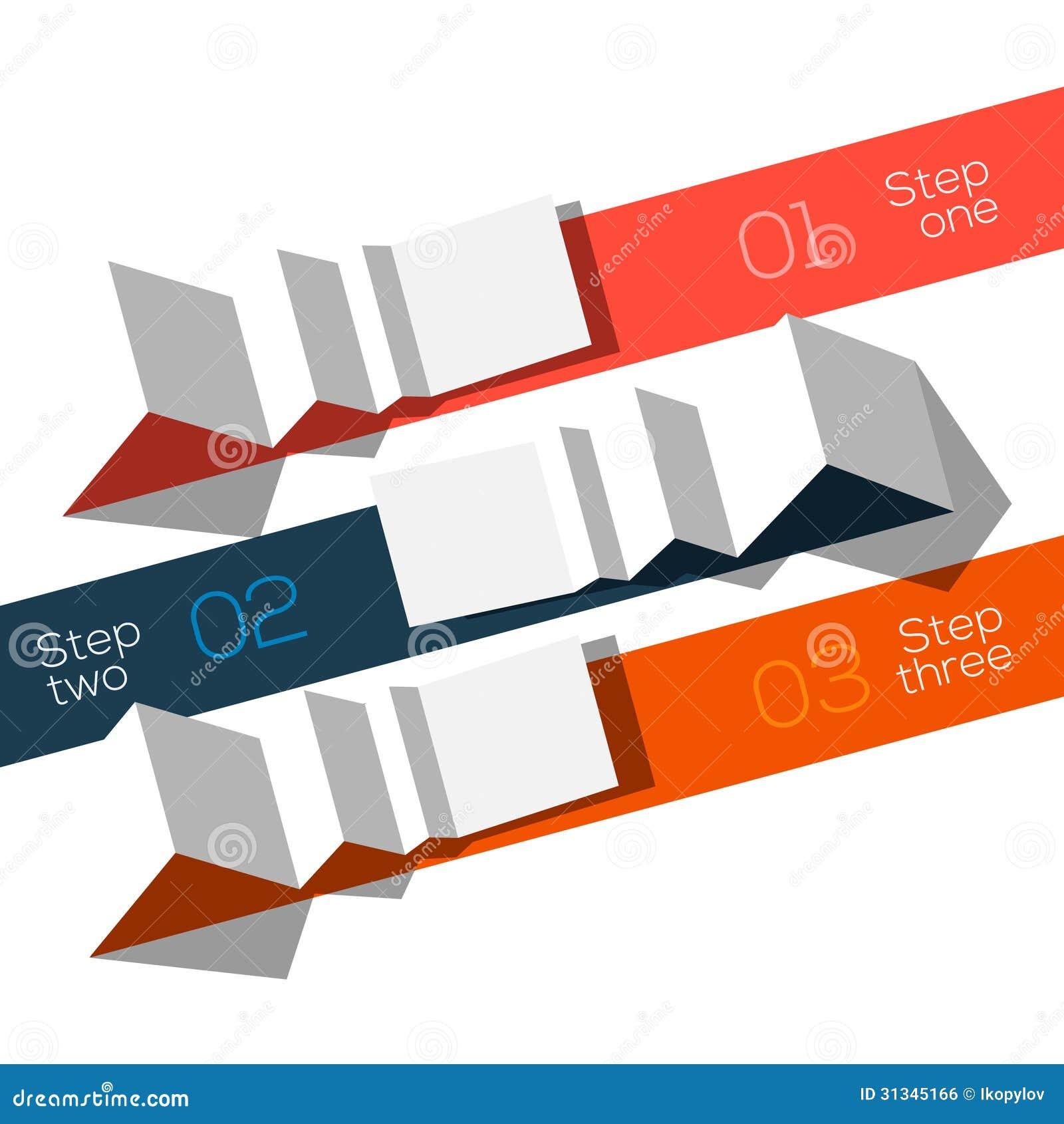 被称呼的现代设计信息图表模板origami