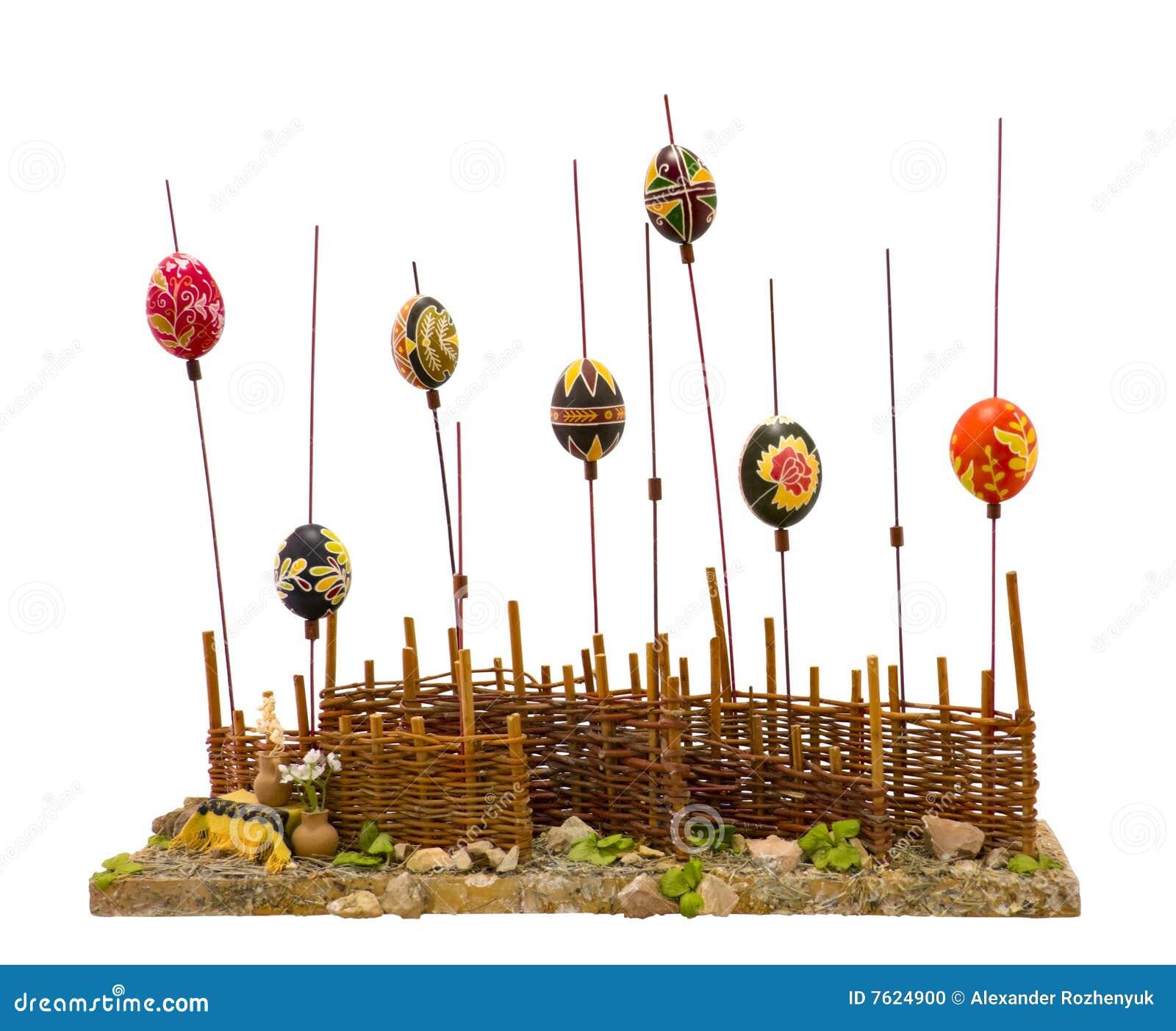 被绘的装饰复活节彩蛋