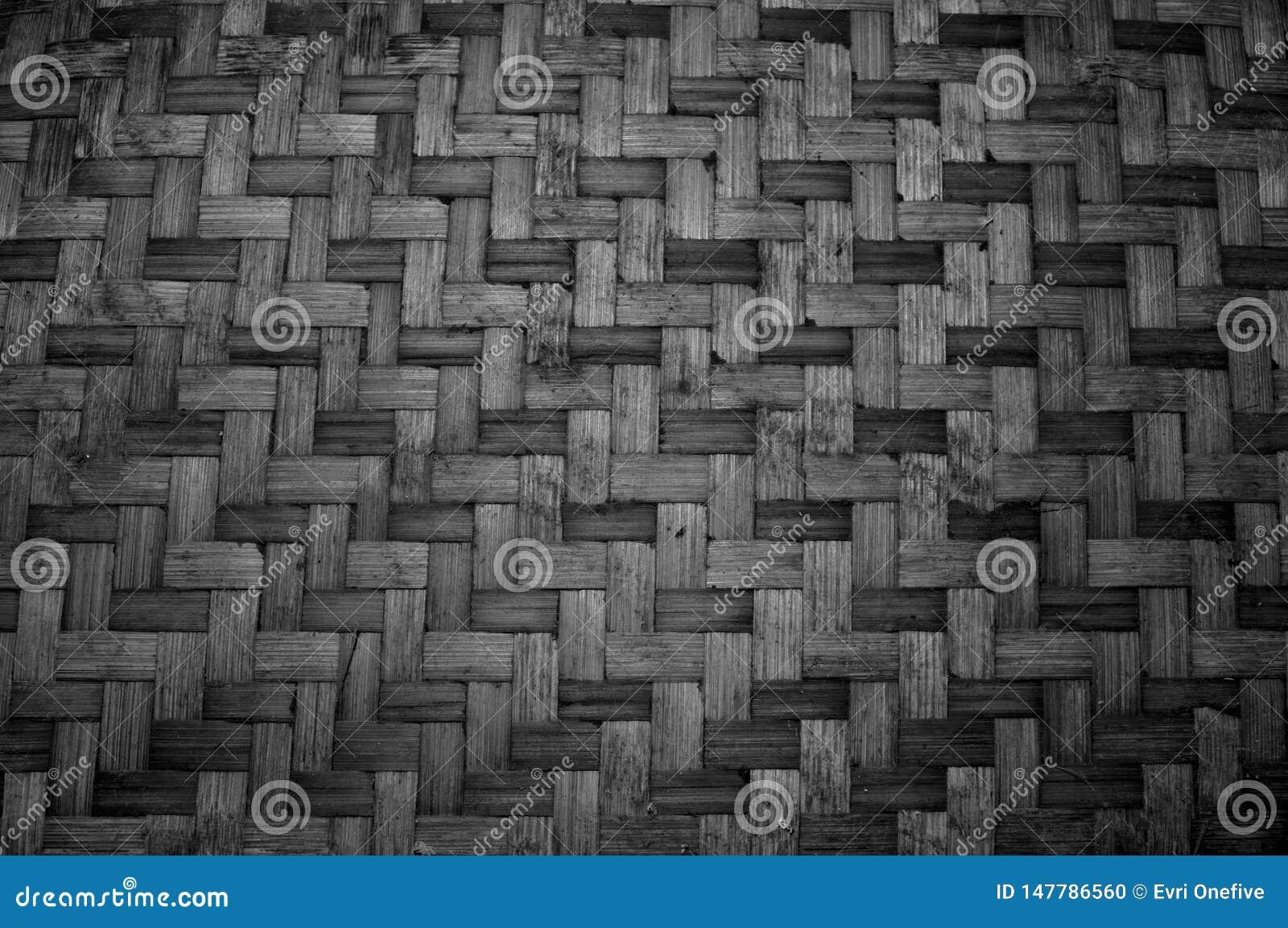 被编织的竹纹理 样式和纹理背景