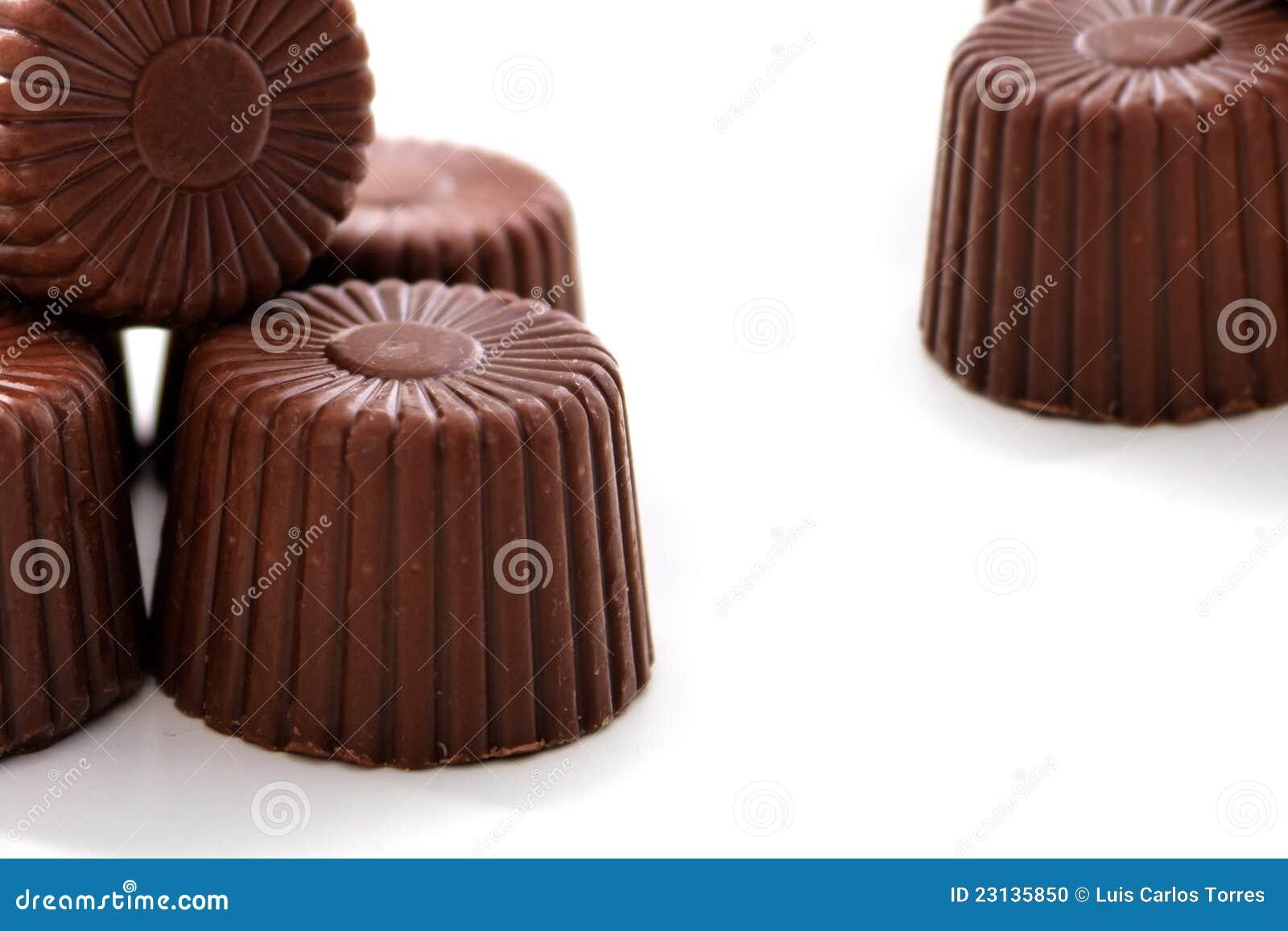 被舍入的巧克力