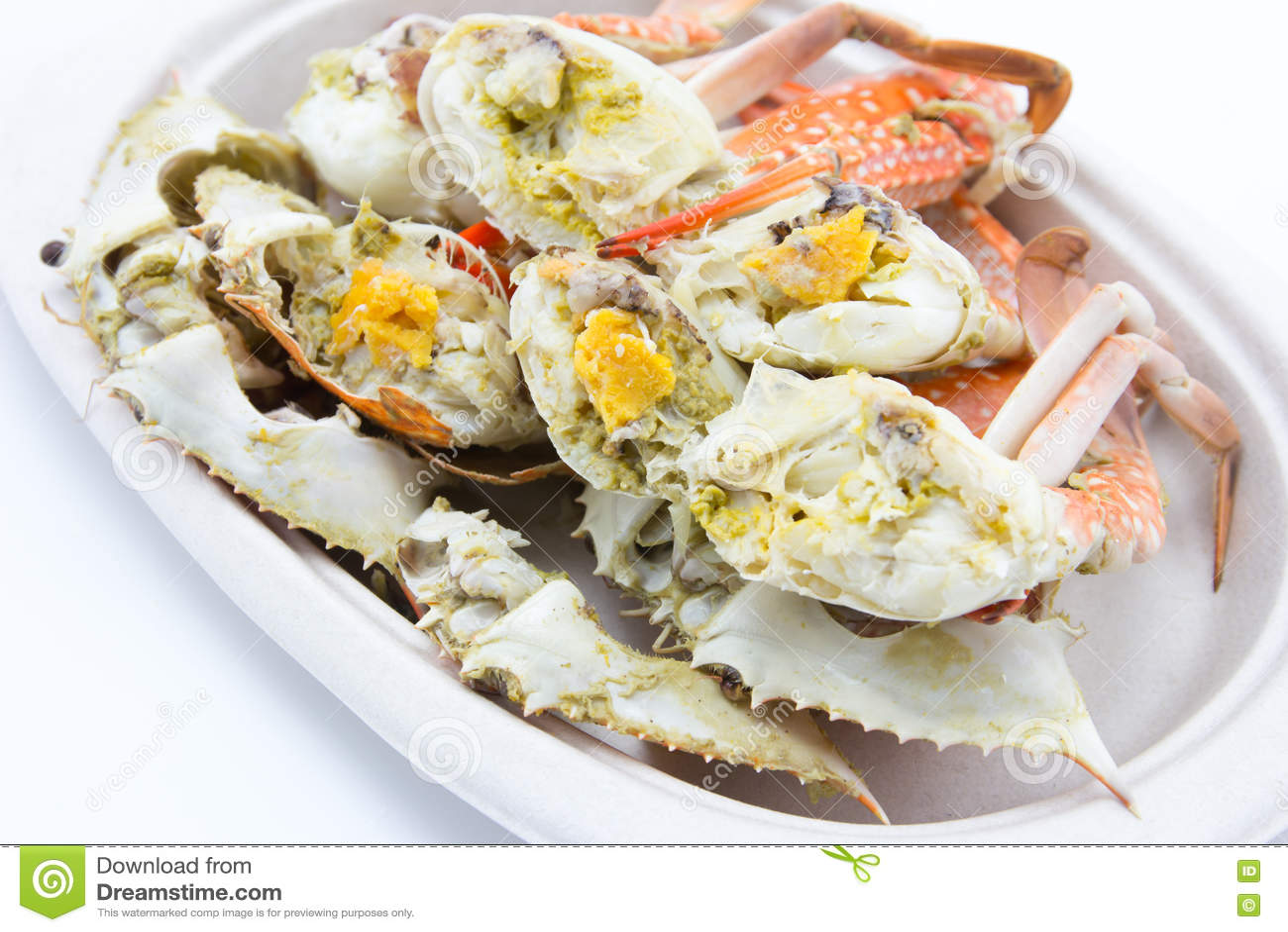被蒸的螃蟹