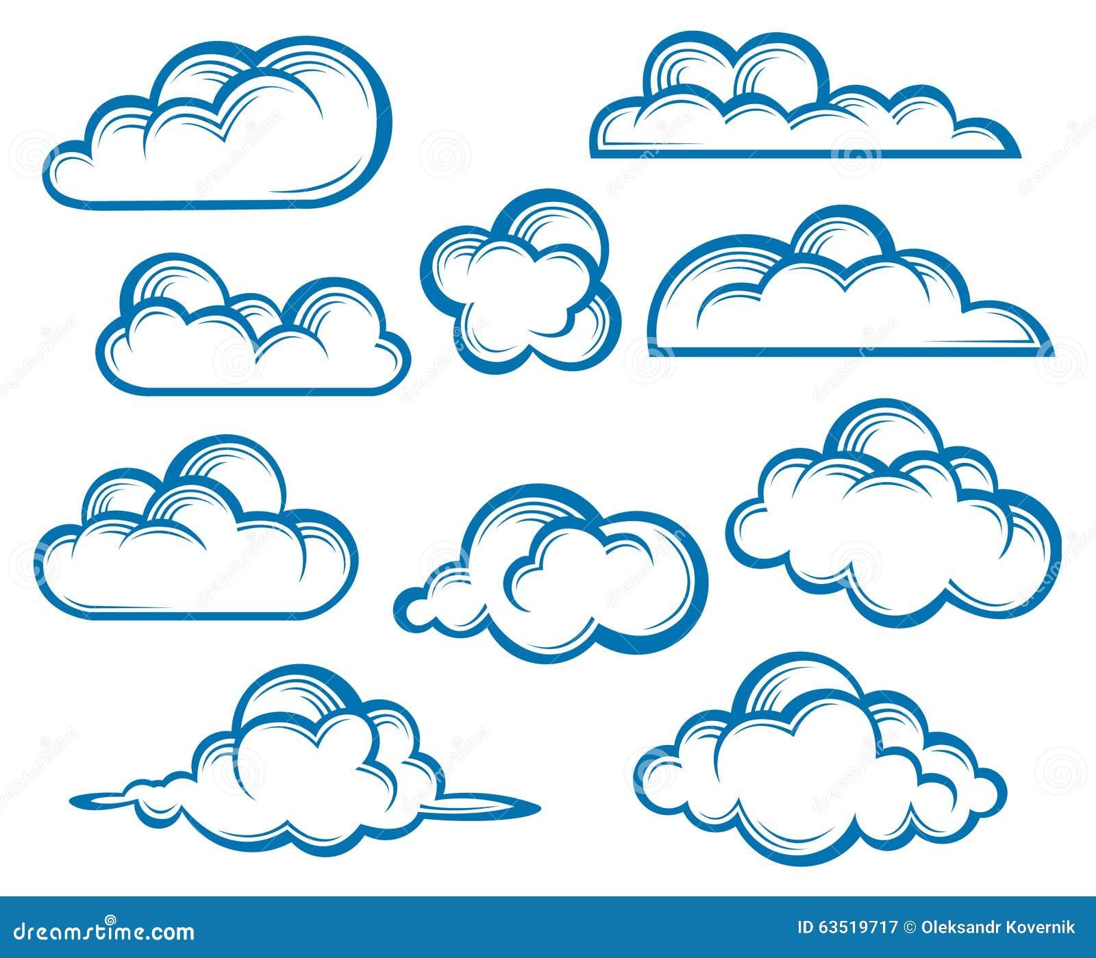 被设置的云彩 库存例证 - 图片: 63519717图片