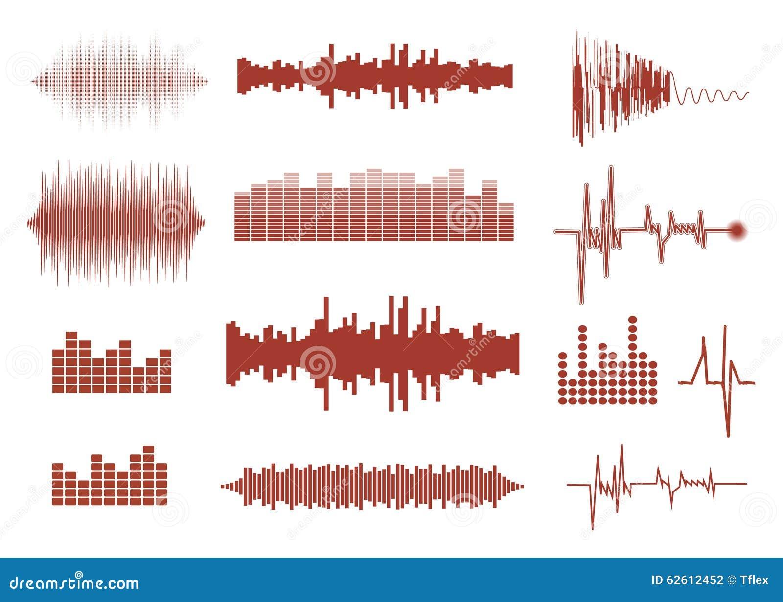 被设置的传染媒介声波 音频调平器技术,搏动音乐会