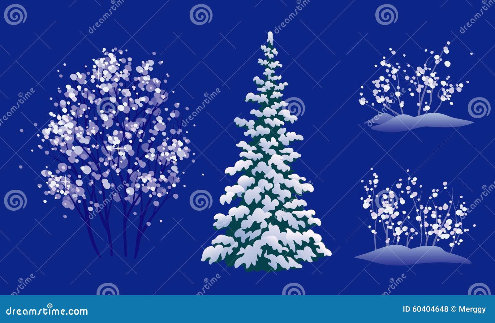 被设置的冬天树