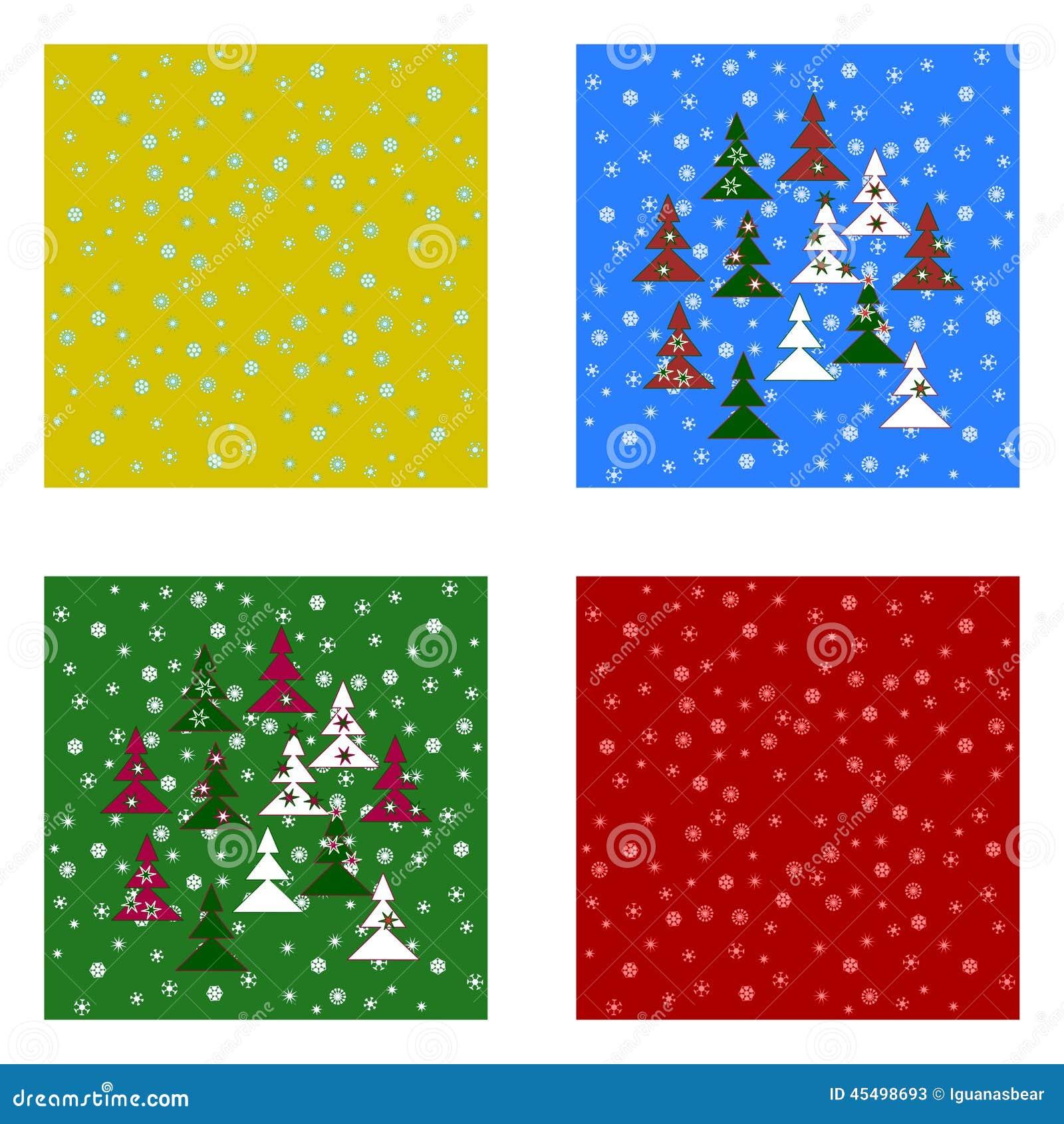 被设置的圣诞节tileable背景