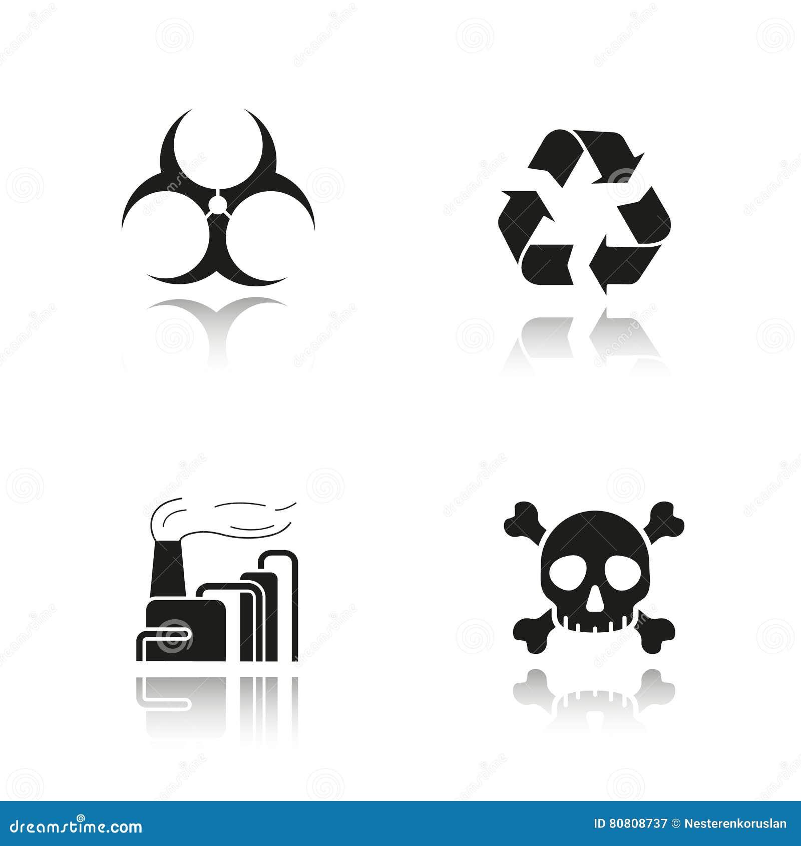 被设置的工业污染下落阴影黑色象