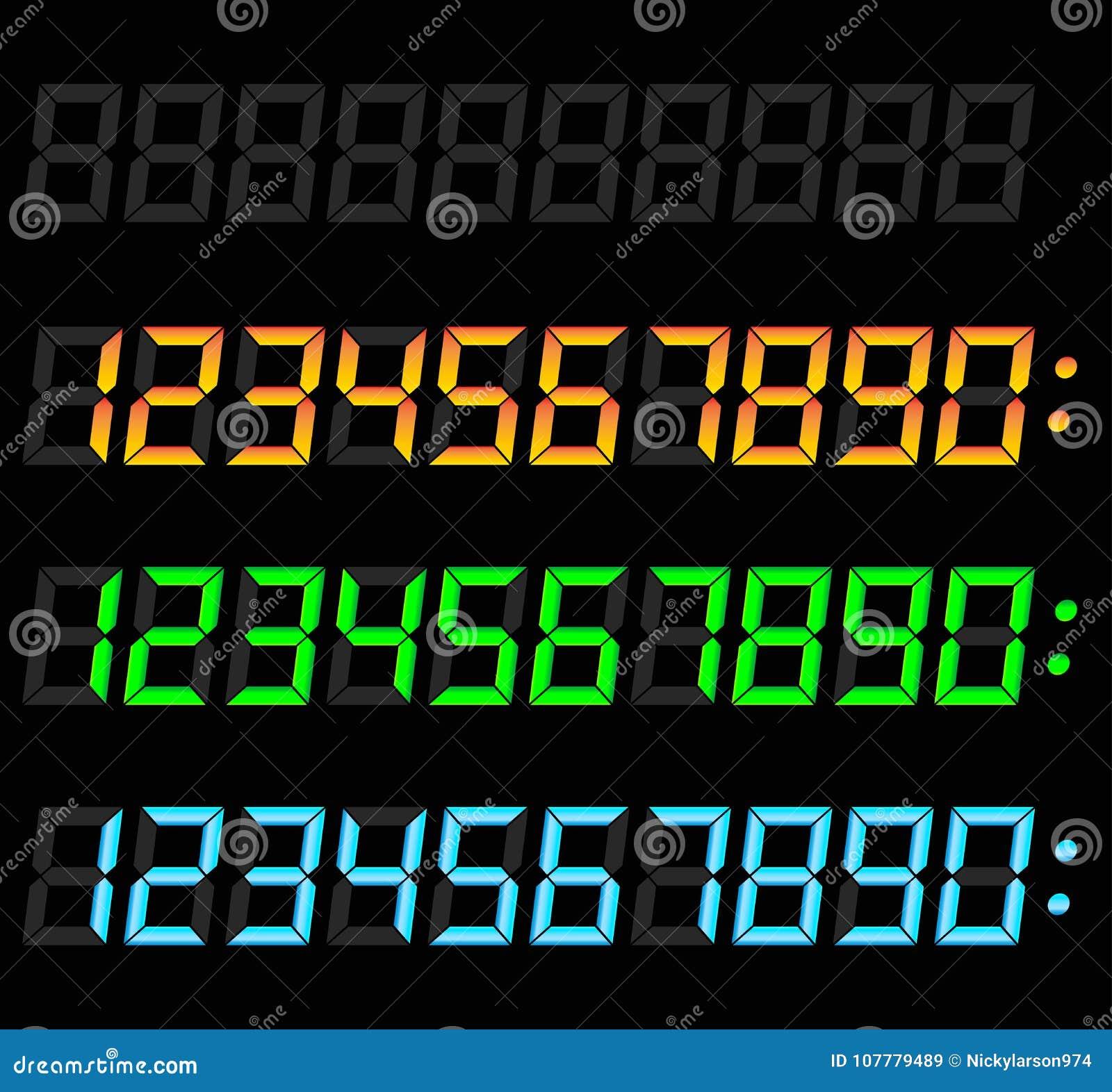 被设置的数字式数字
