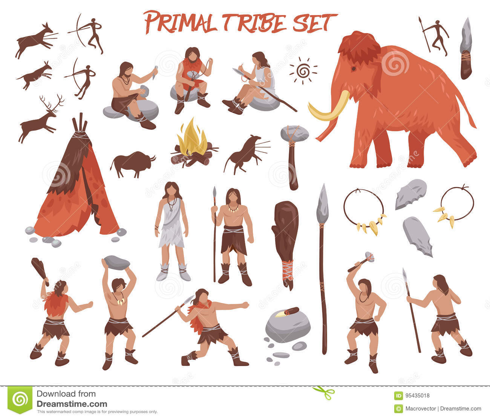 被设置的最初部落人象