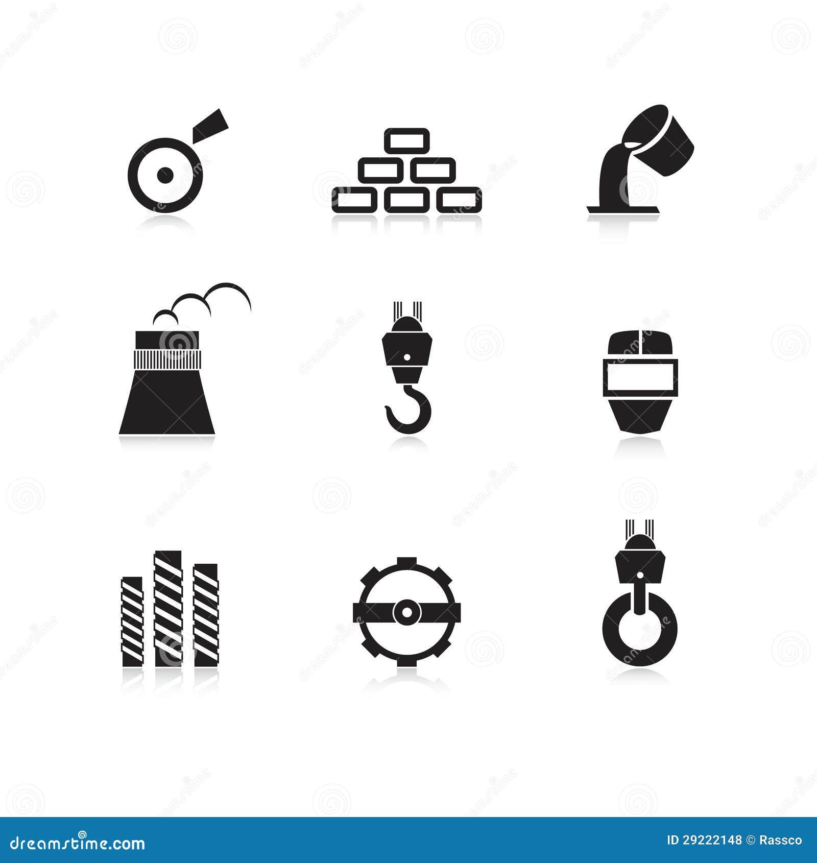 被设置的金属工业图标