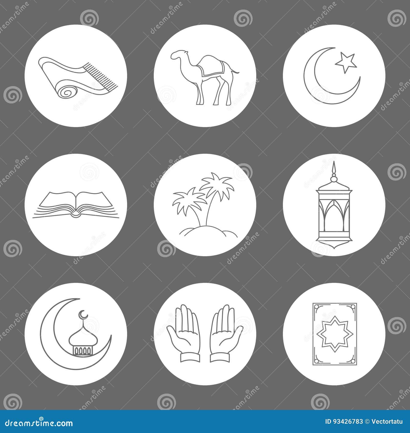 被设置的阿拉伯线性象