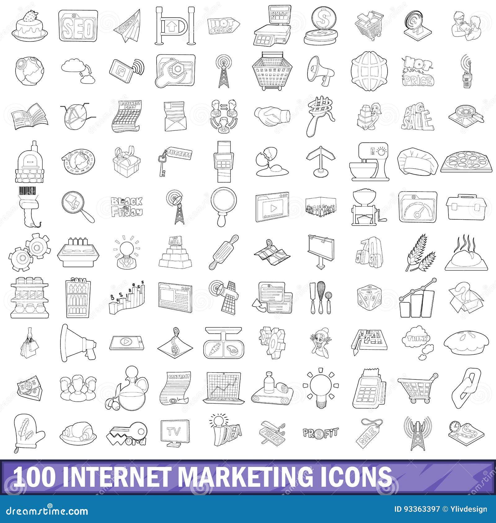 被设置的100个互联网营销象,概述样式