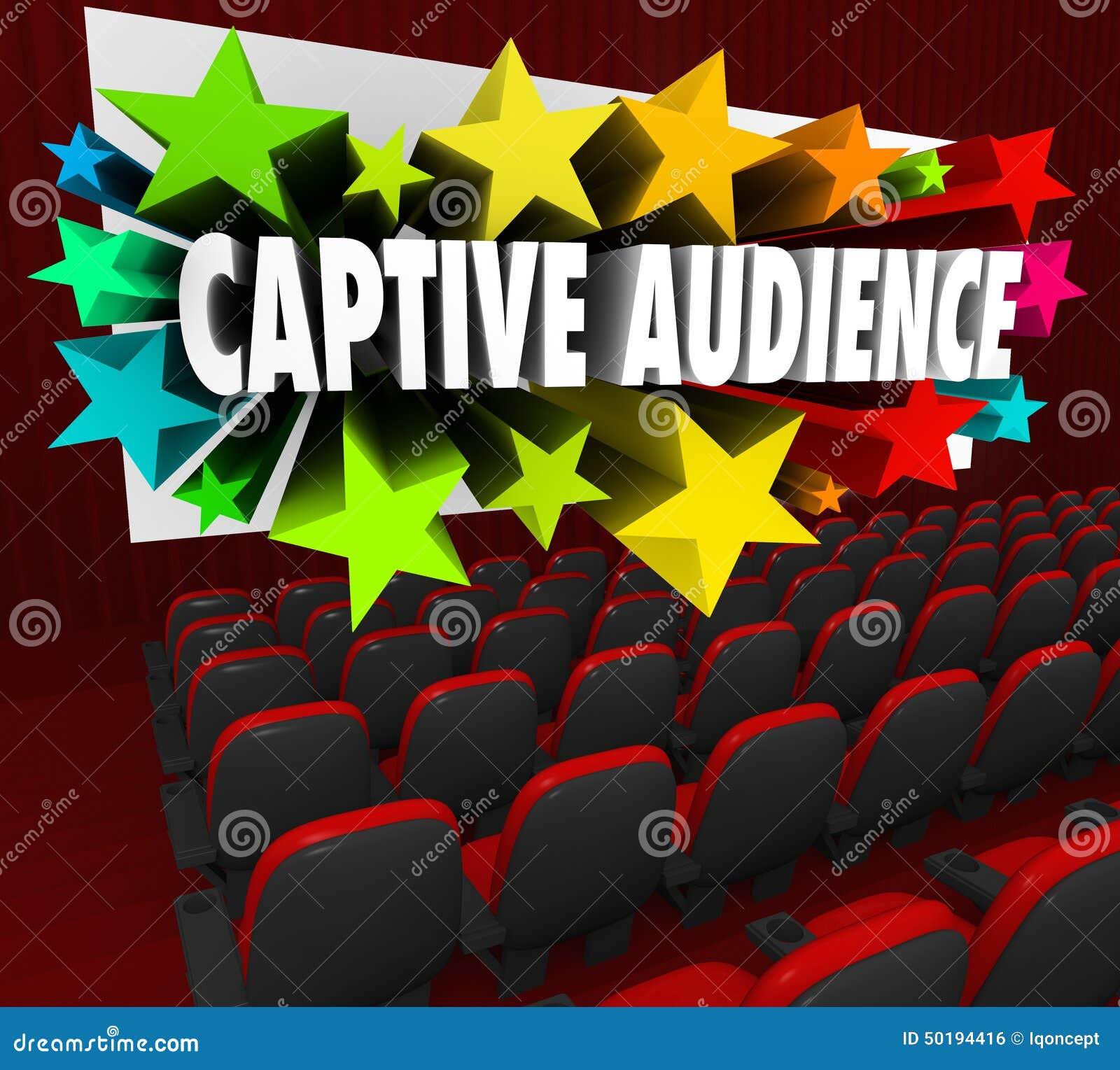 被迷住的读者措辞卖顾客PR的荧屏剧院