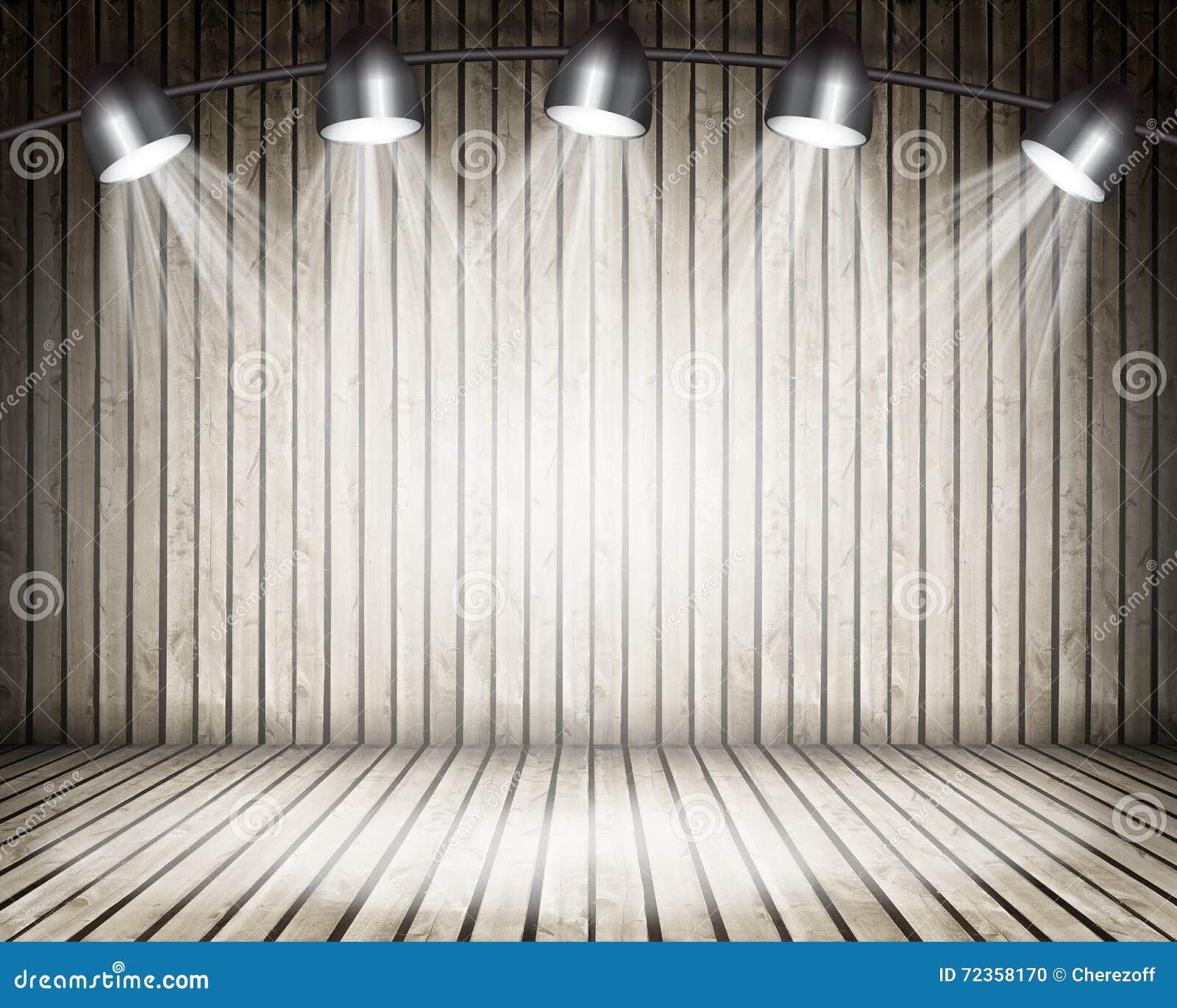 被阐明的空的音乐会阶段