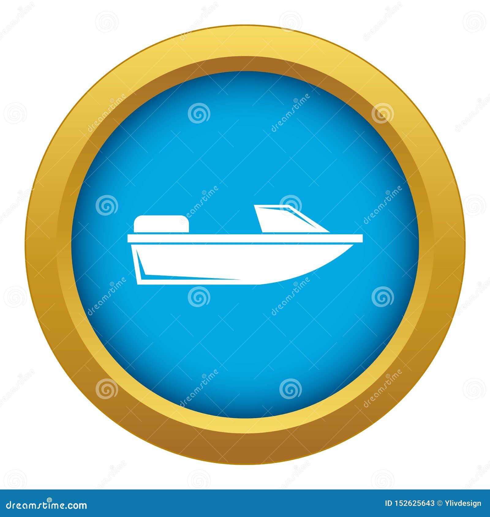 被隔绝的体育快速汽艇象蓝色传染媒介