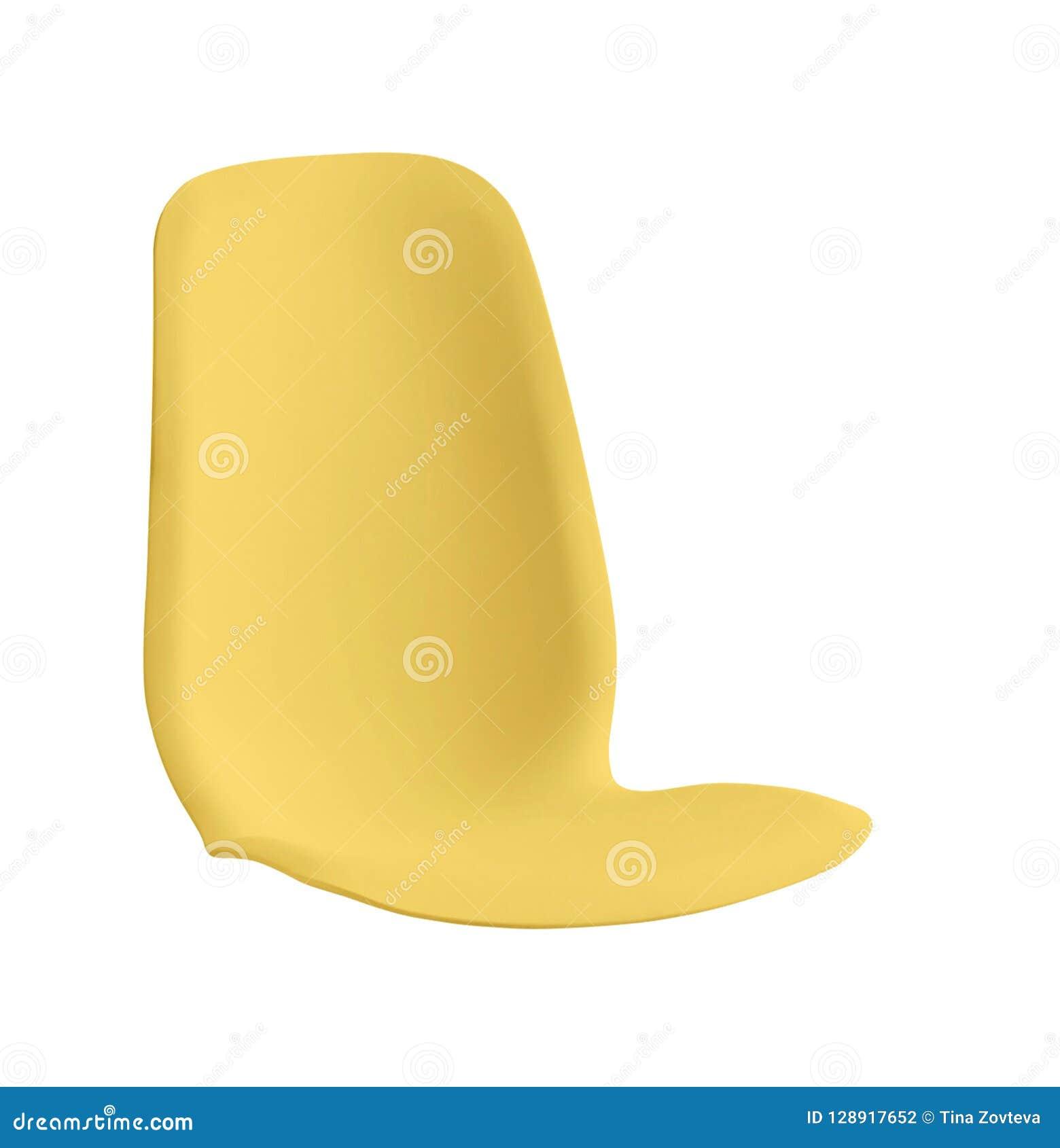 被隔绝的塑料椅子