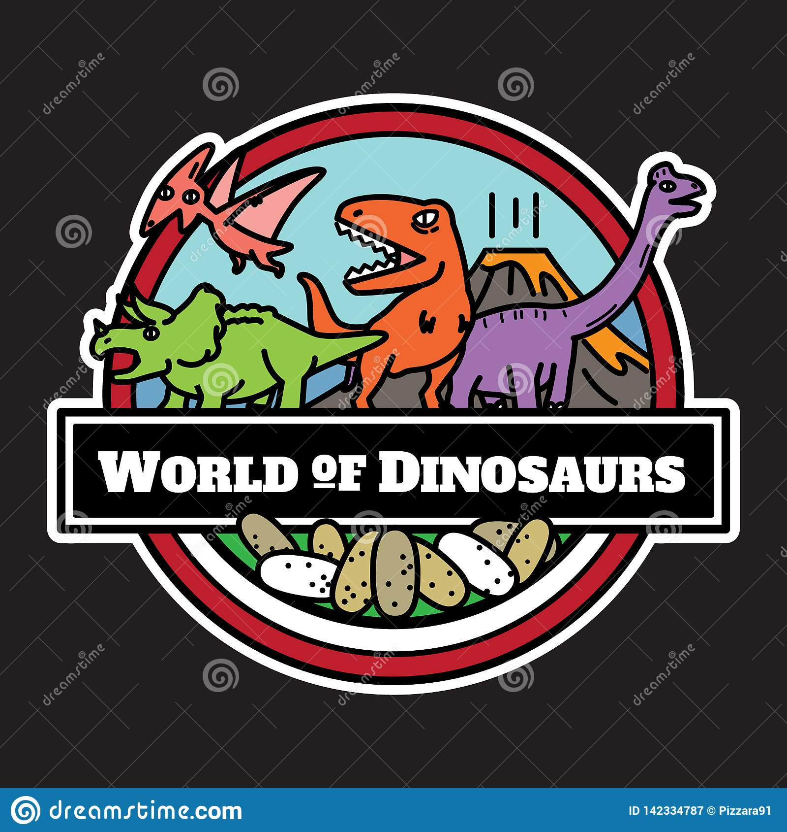 被隔绝的恐龙象 卡通人物设计
