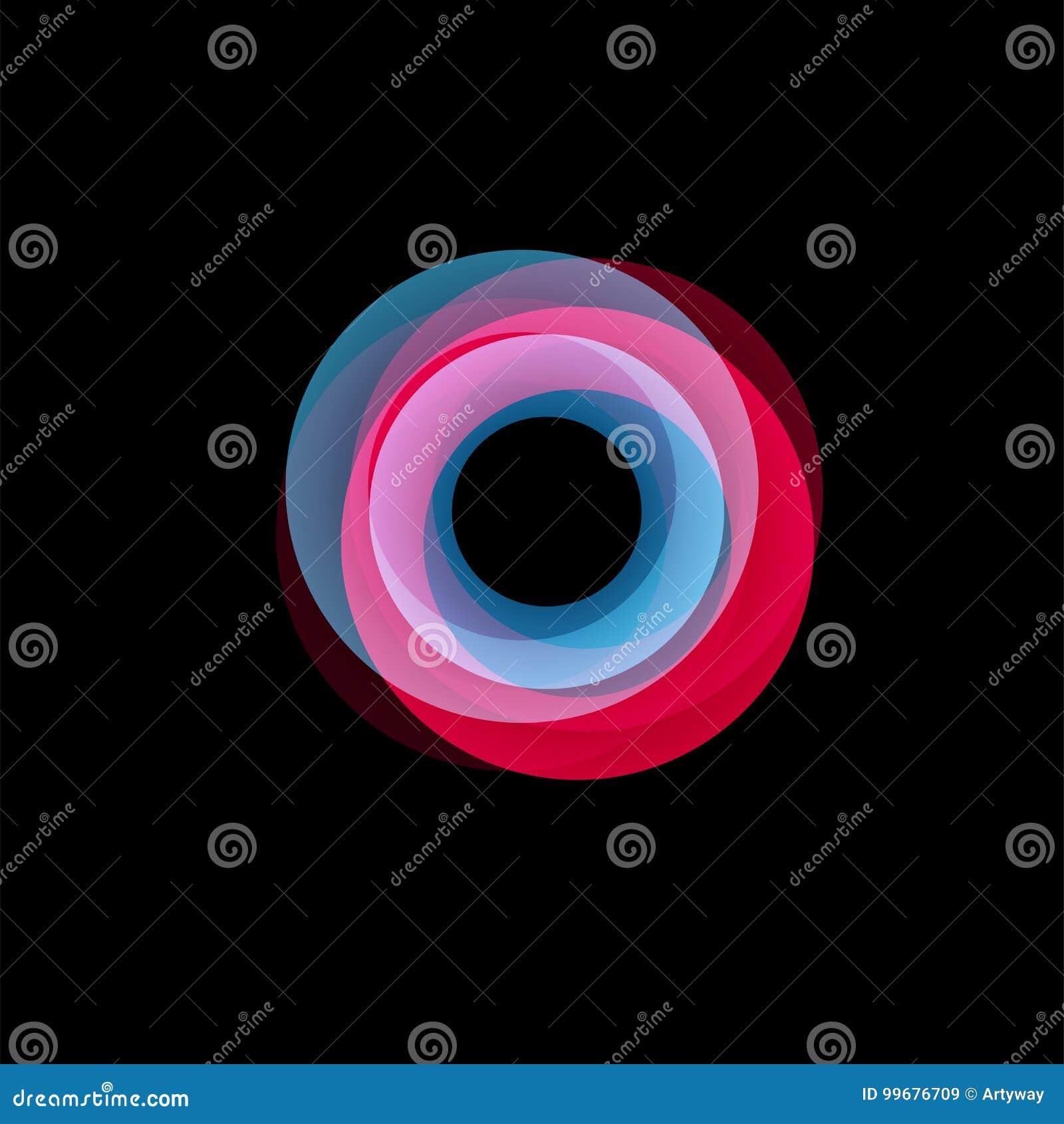 被隔绝的漏斗摘要商标,线性异常的形状,圆线略写法 光亮箍,圆环,轮子图表