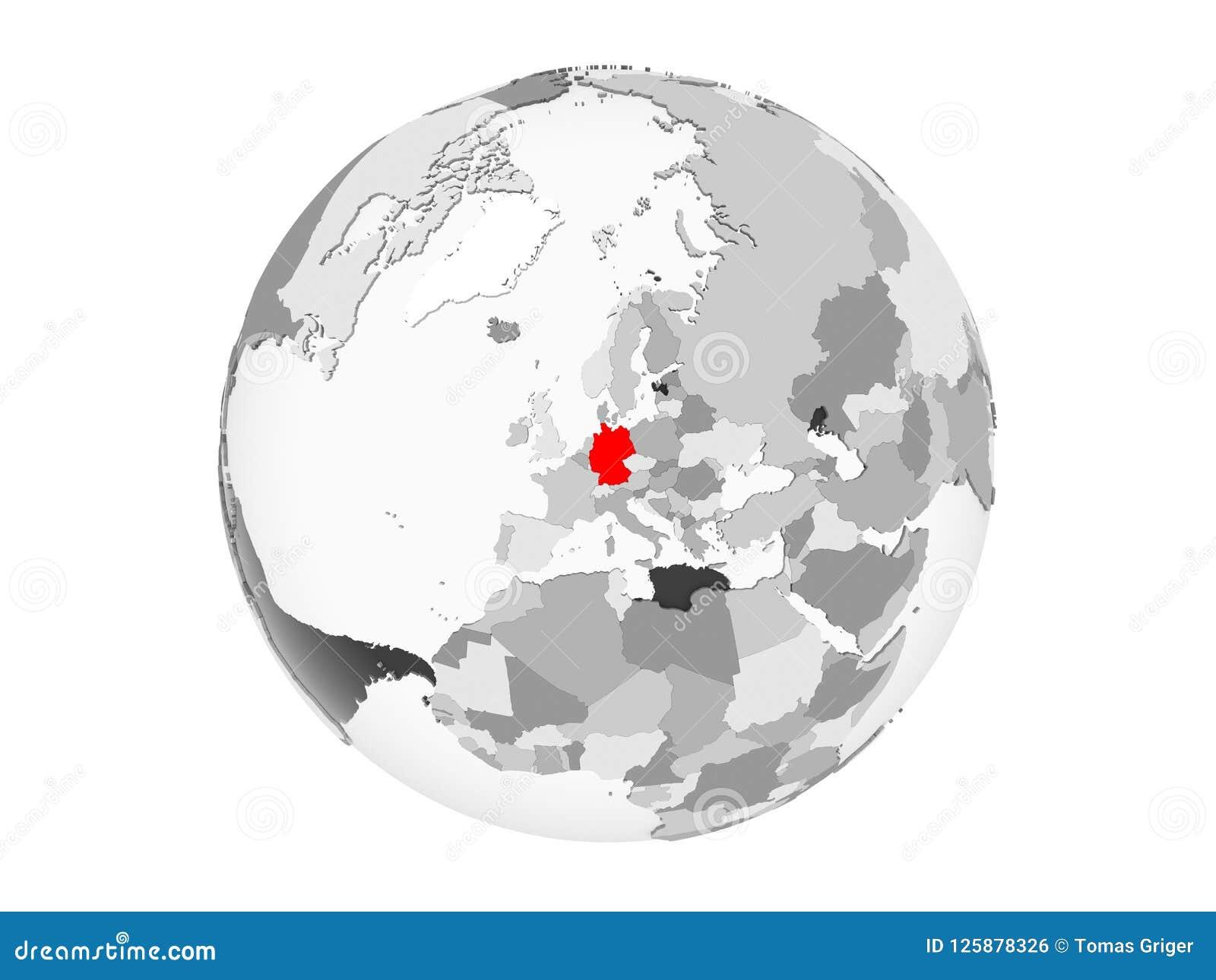 被隔绝的灰色地球的德国