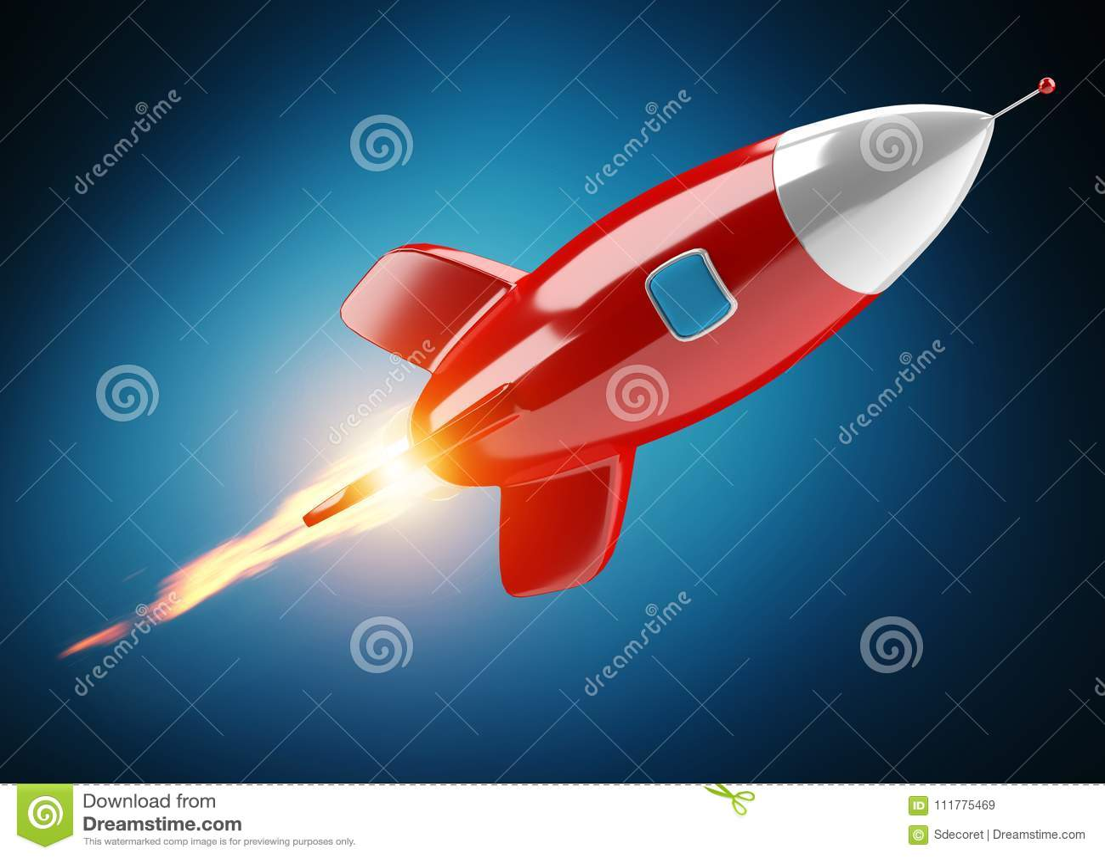 被隔绝的现代数字式火箭3D翻译