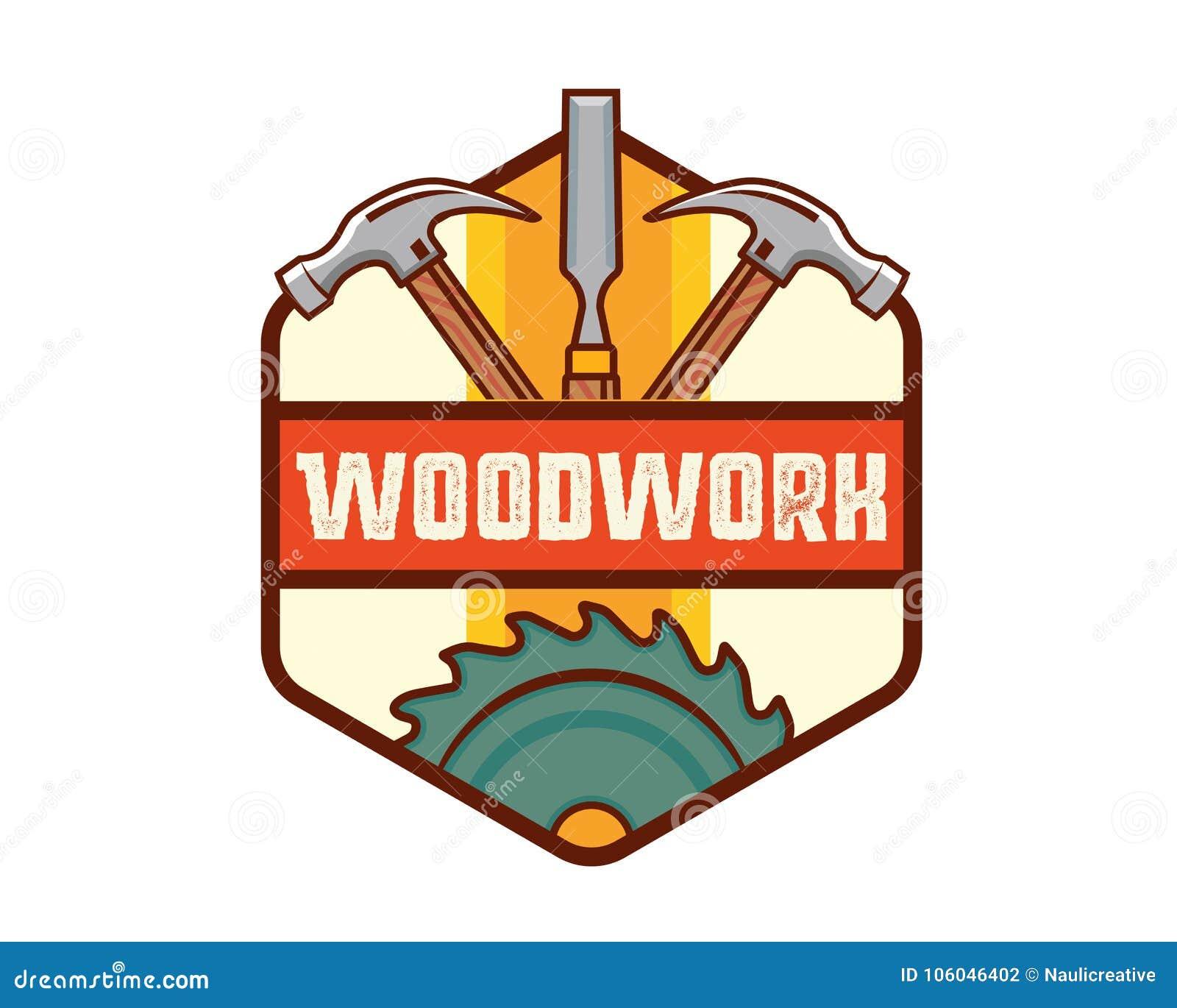 被隔绝的葡萄酒木制品木匠业商标徽章象征例证