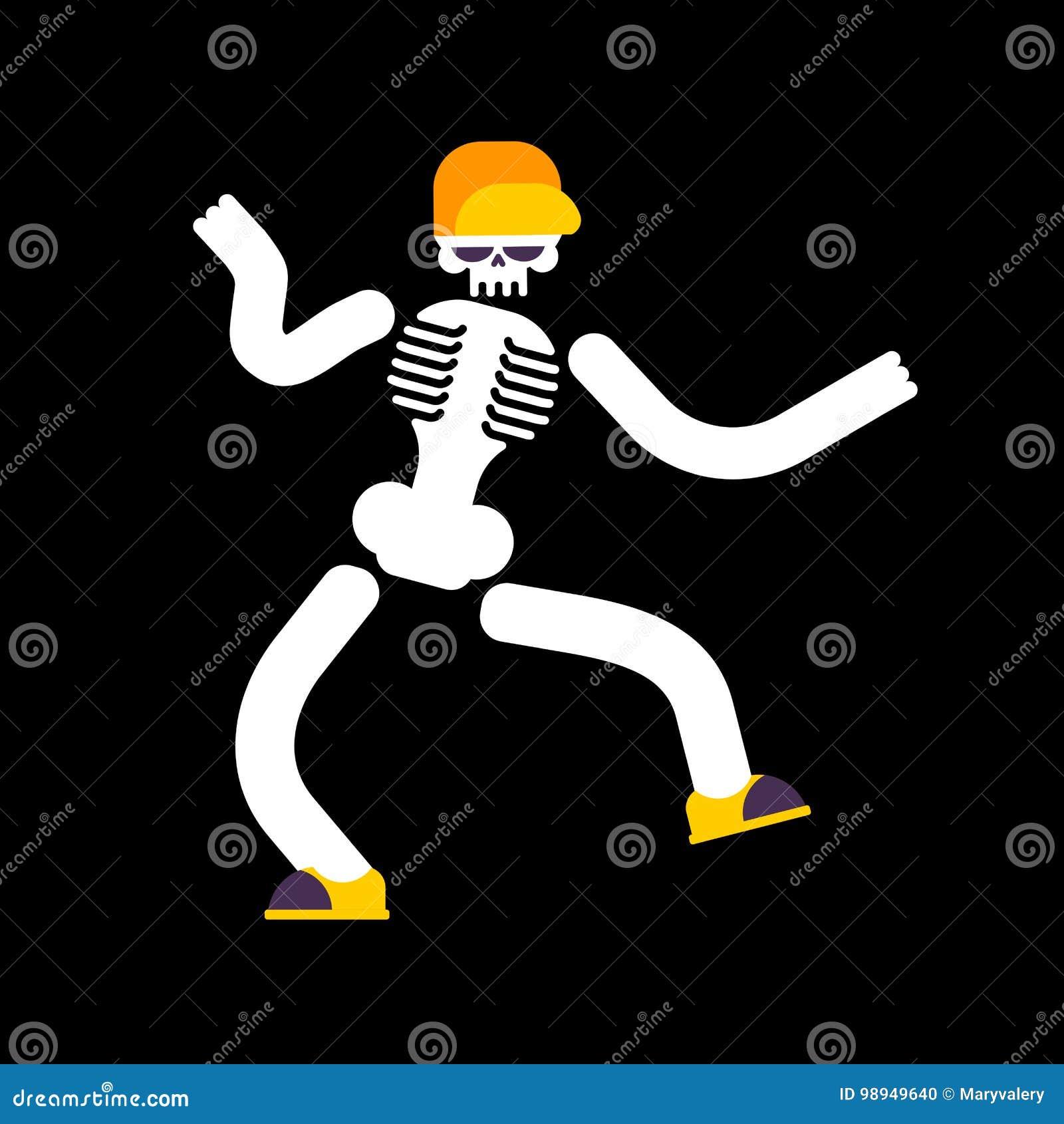 被隔绝的跳舞骨骼 头骨跳舞街道舞蹈