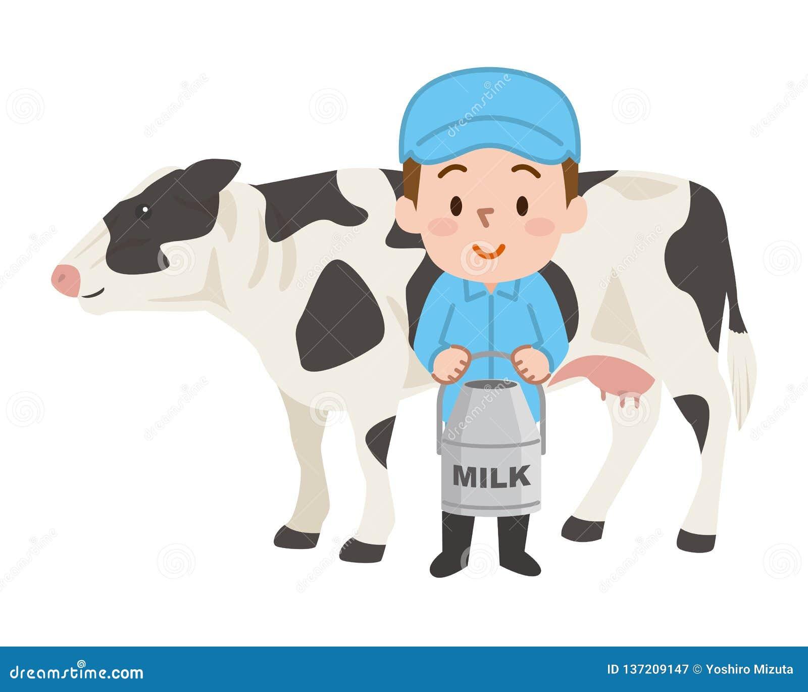 被隔绝的黑白母牛 乳牛场场主