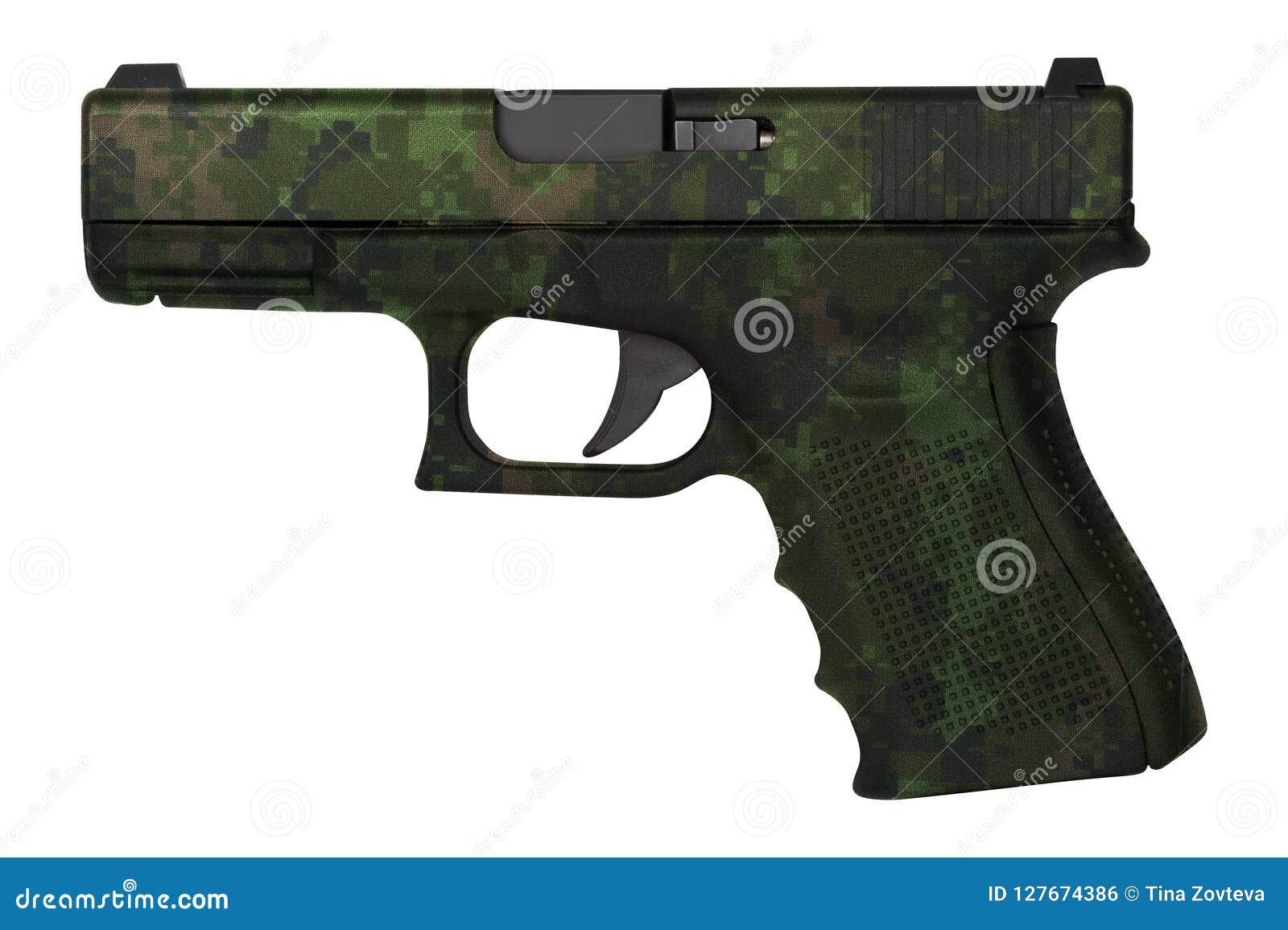 被隔绝的Glock自动9mm手枪手枪