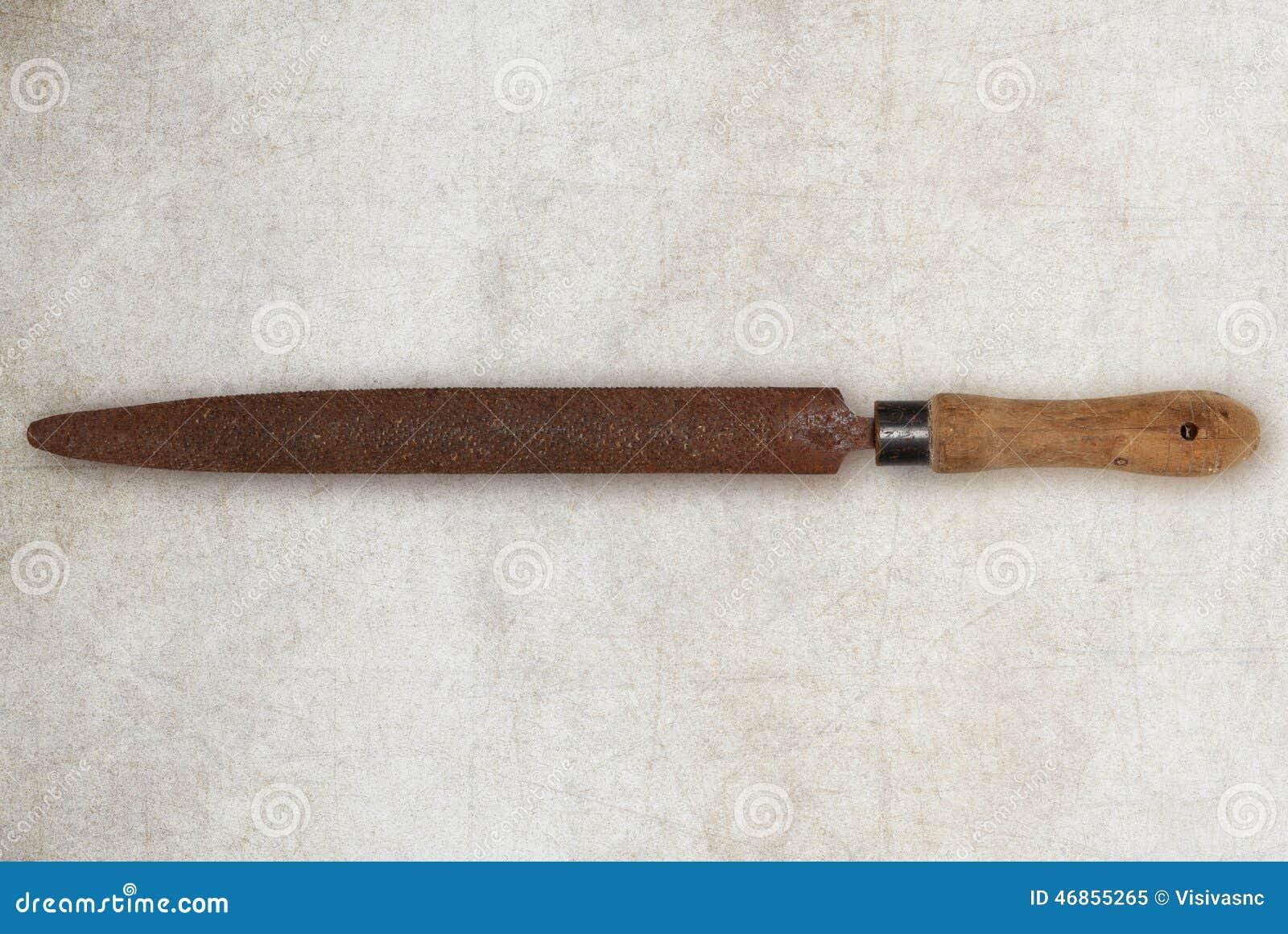 很老的粗��_被隔绝的木头的老葡萄酒工具木匠粗锉.