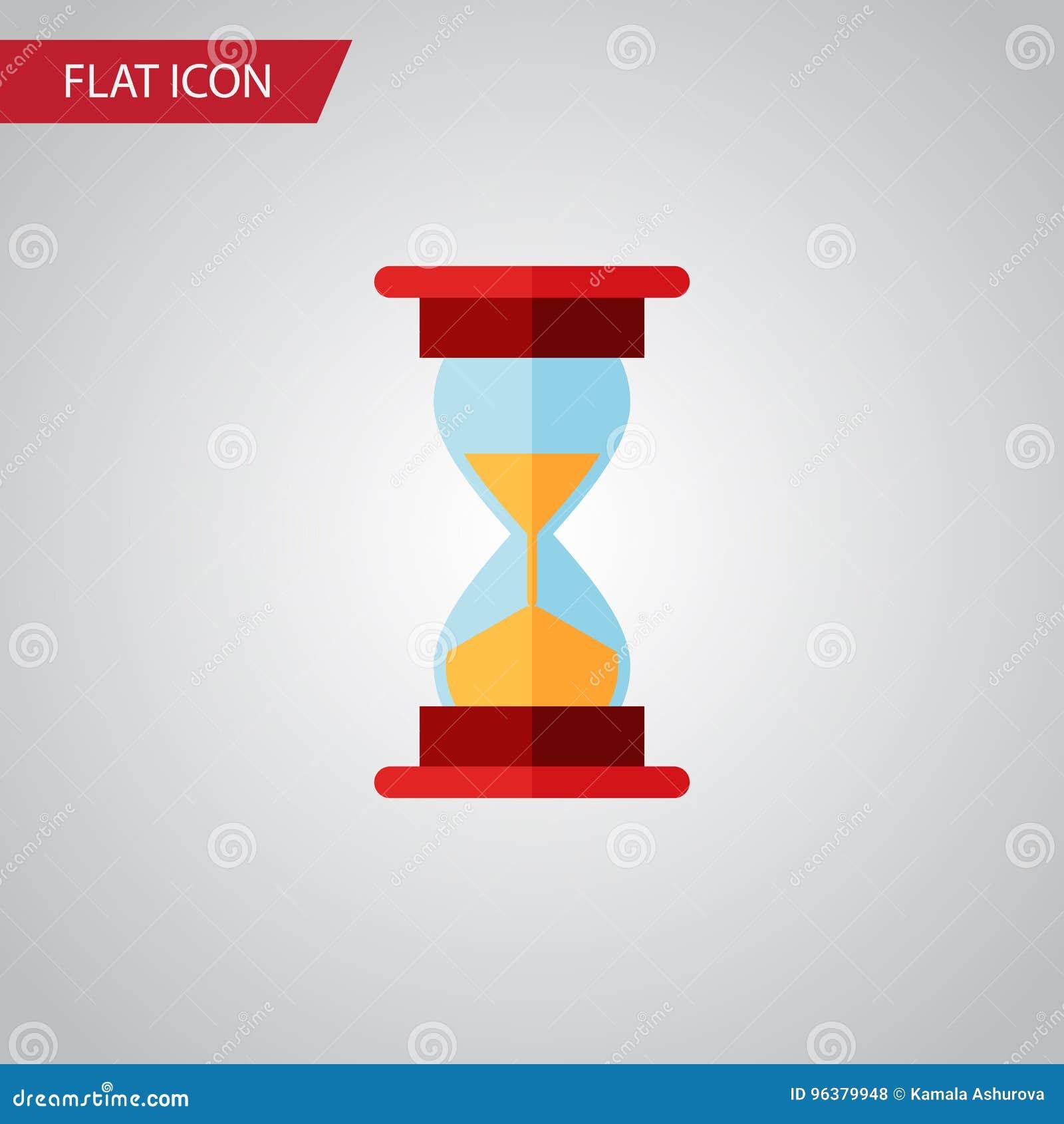 被隔绝的沙子定时器平的象 装货传染媒介元素可以为滴漏,沙子,定时器设计观念使用