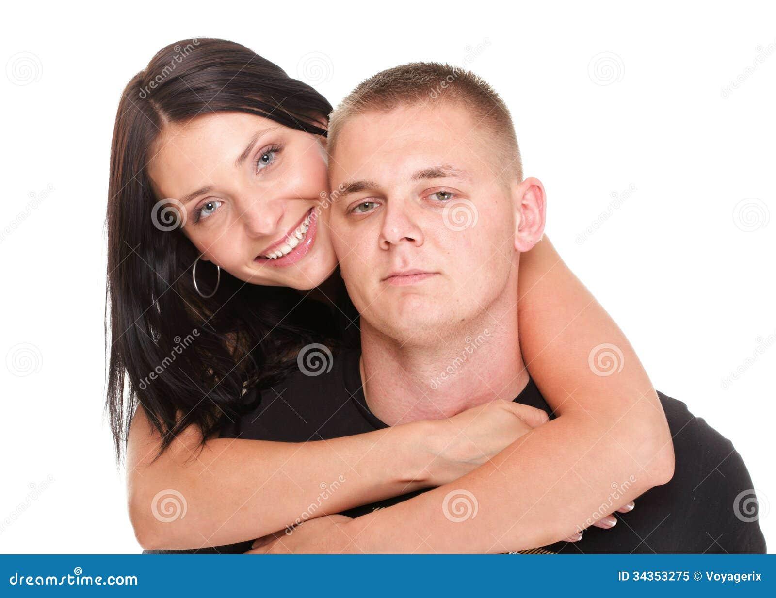 被隔绝的爱恋的美好的年轻愉快的夫妇