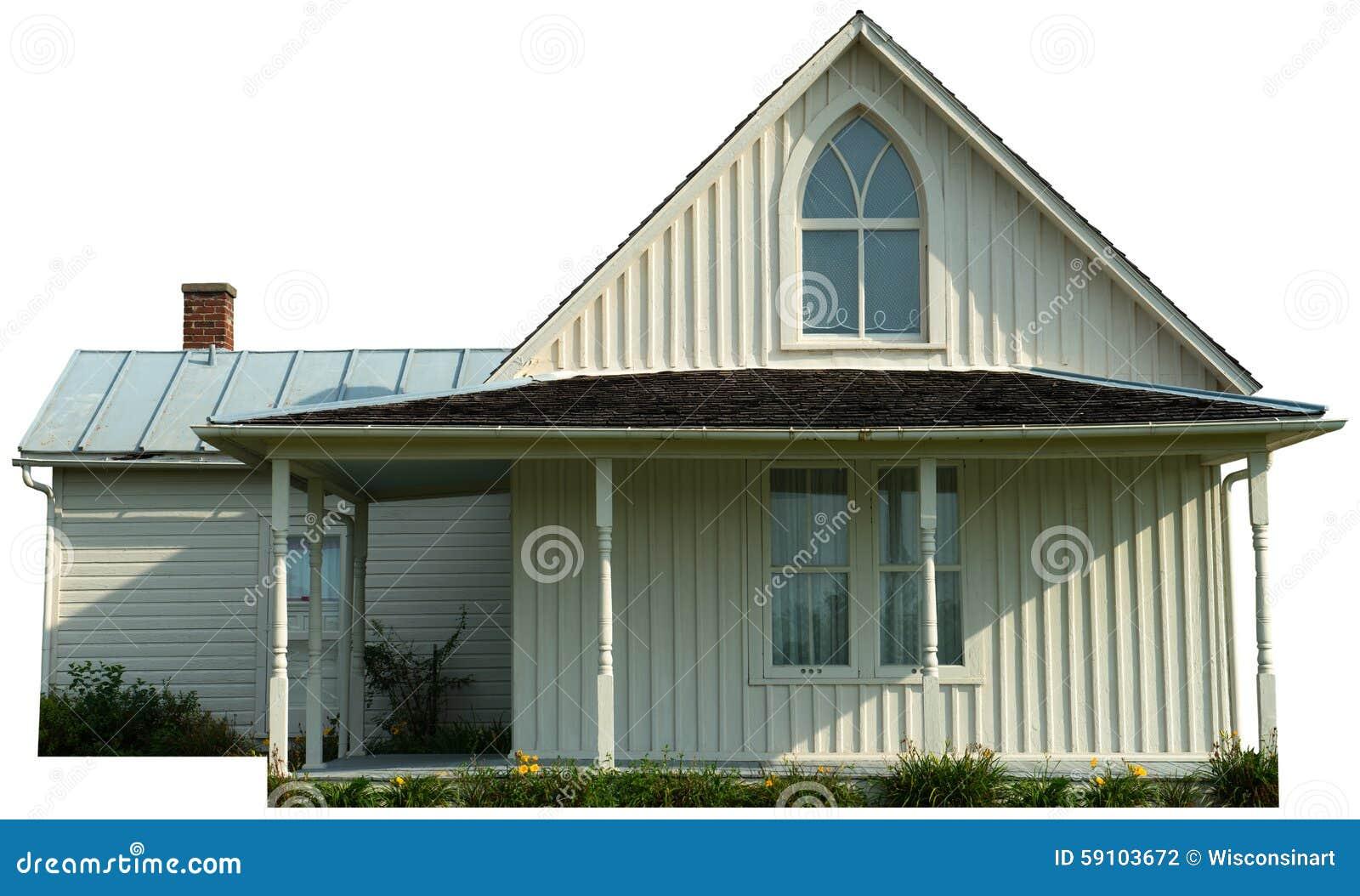 被隔绝的美国哥特式农舍