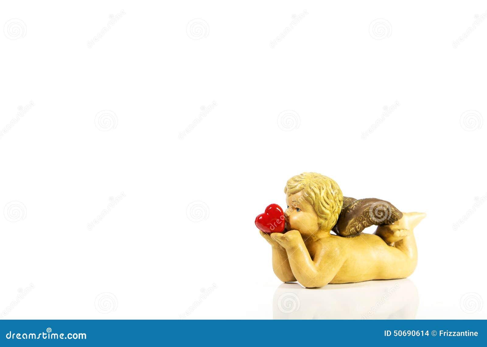 Download 被隔绝的逗人喜爱的婴孩天使在他的手上的拿着红色心脏 库存照片. 图片 包括有 逗人喜爱, 华伦泰, 感觉 - 50690614