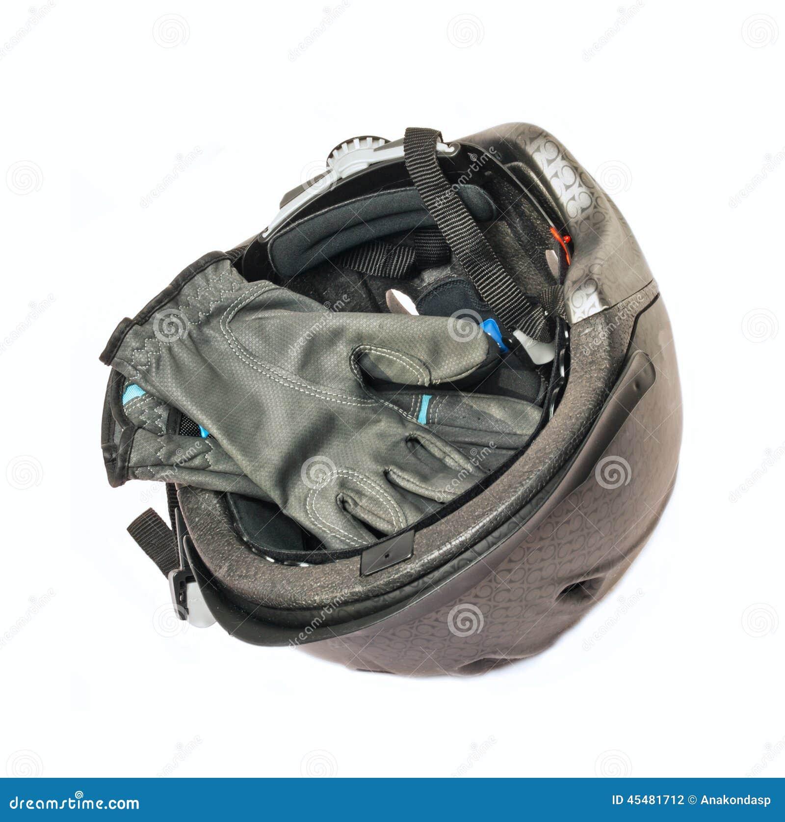 被隔绝的马骑术灰色盔甲和手套