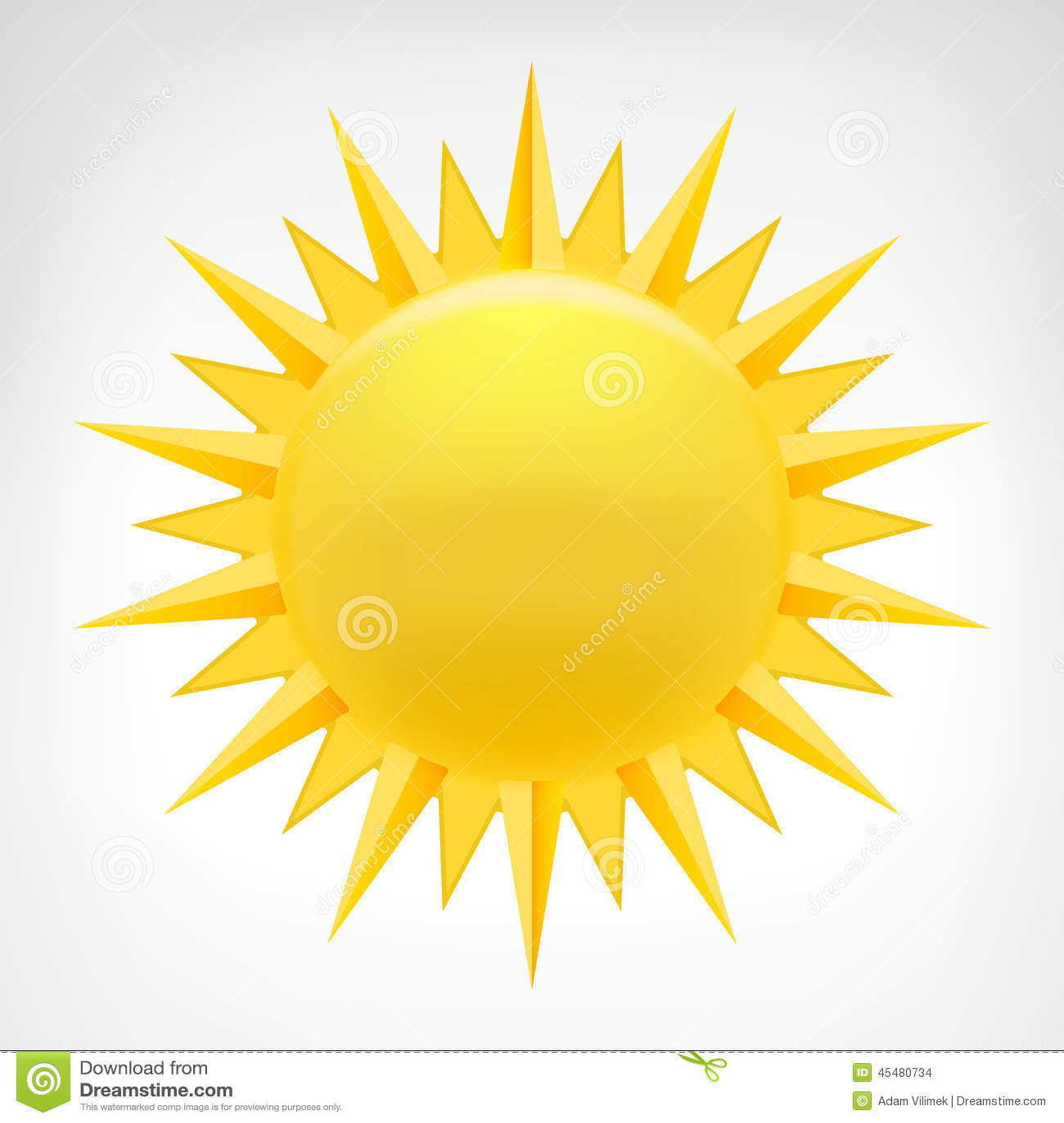 被隔绝的黄色太阳剪贴美术传染媒介