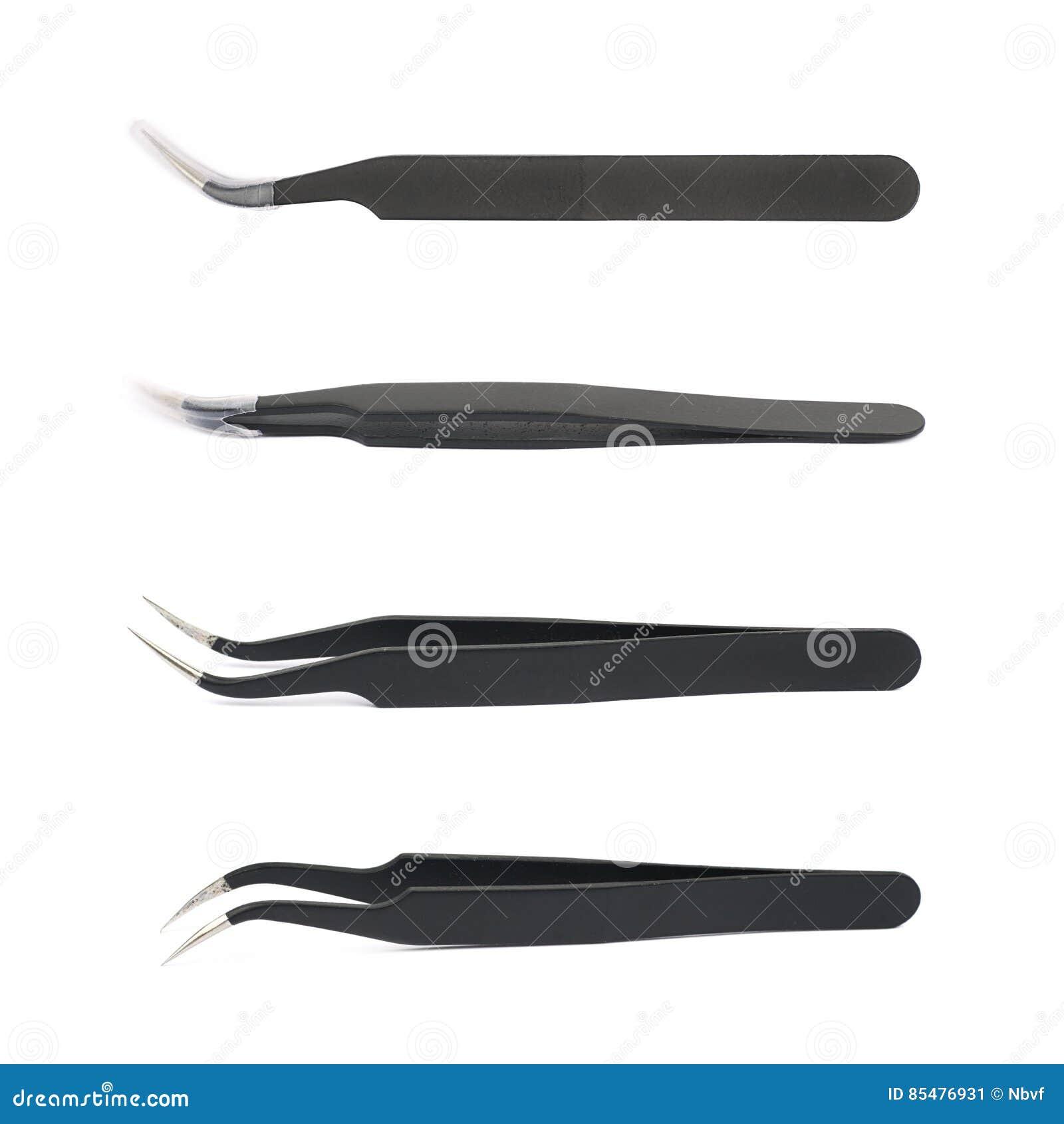 被隔绝的黑镊子工具