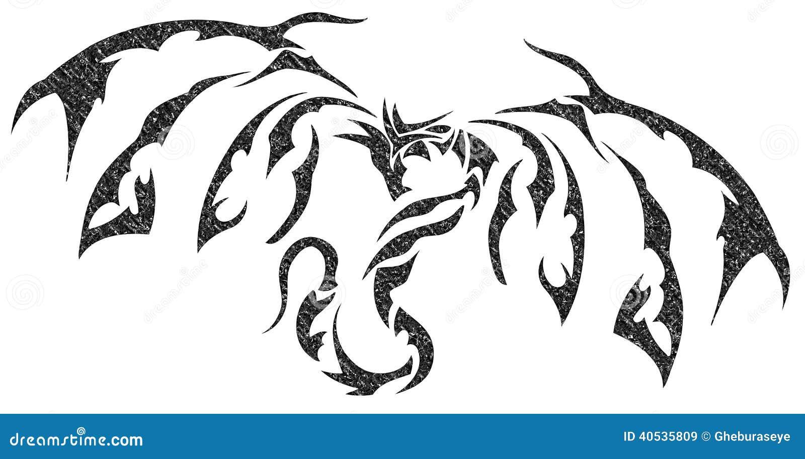 代表一条风格化龙的图象,能用作为纹身花刺.图片