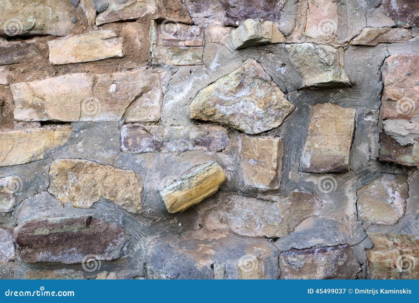 被风化的岩石墙壁纹理