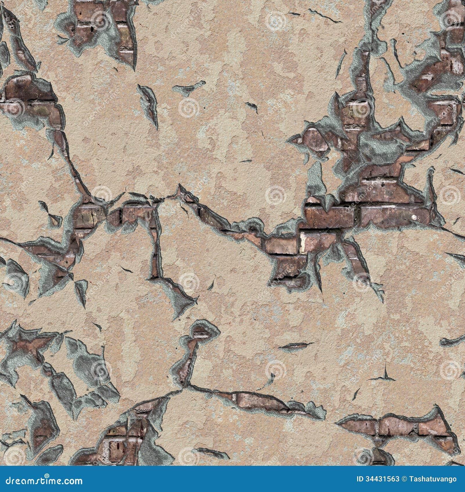 被风化的砖墙。无缝的Tileable纹理。