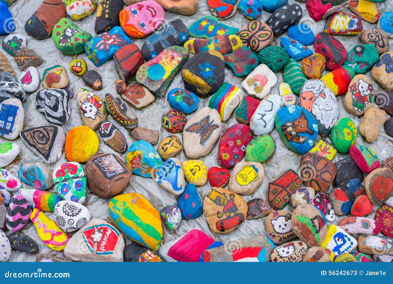 被绘的小卵石